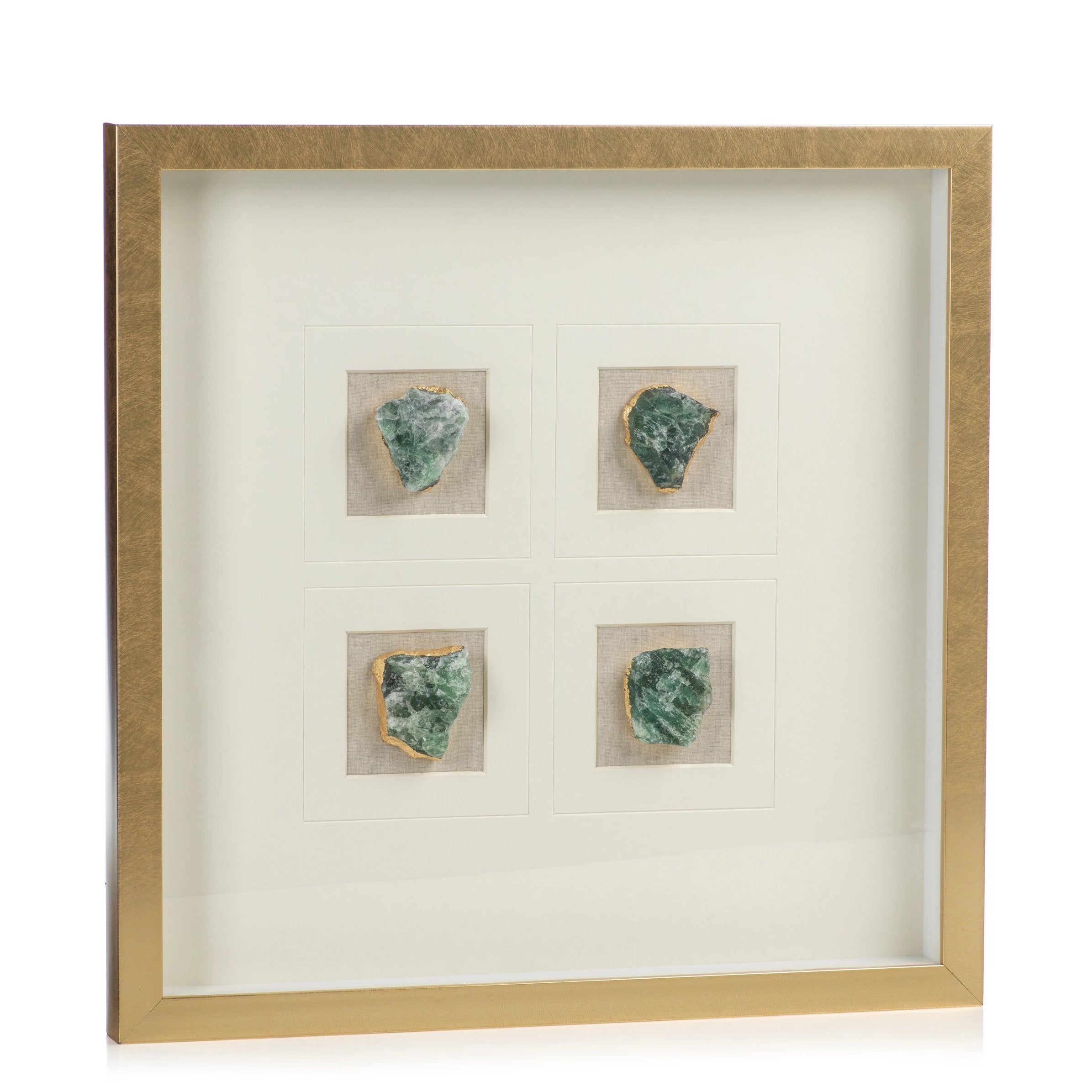 Gold Framed Emerald Crystals
