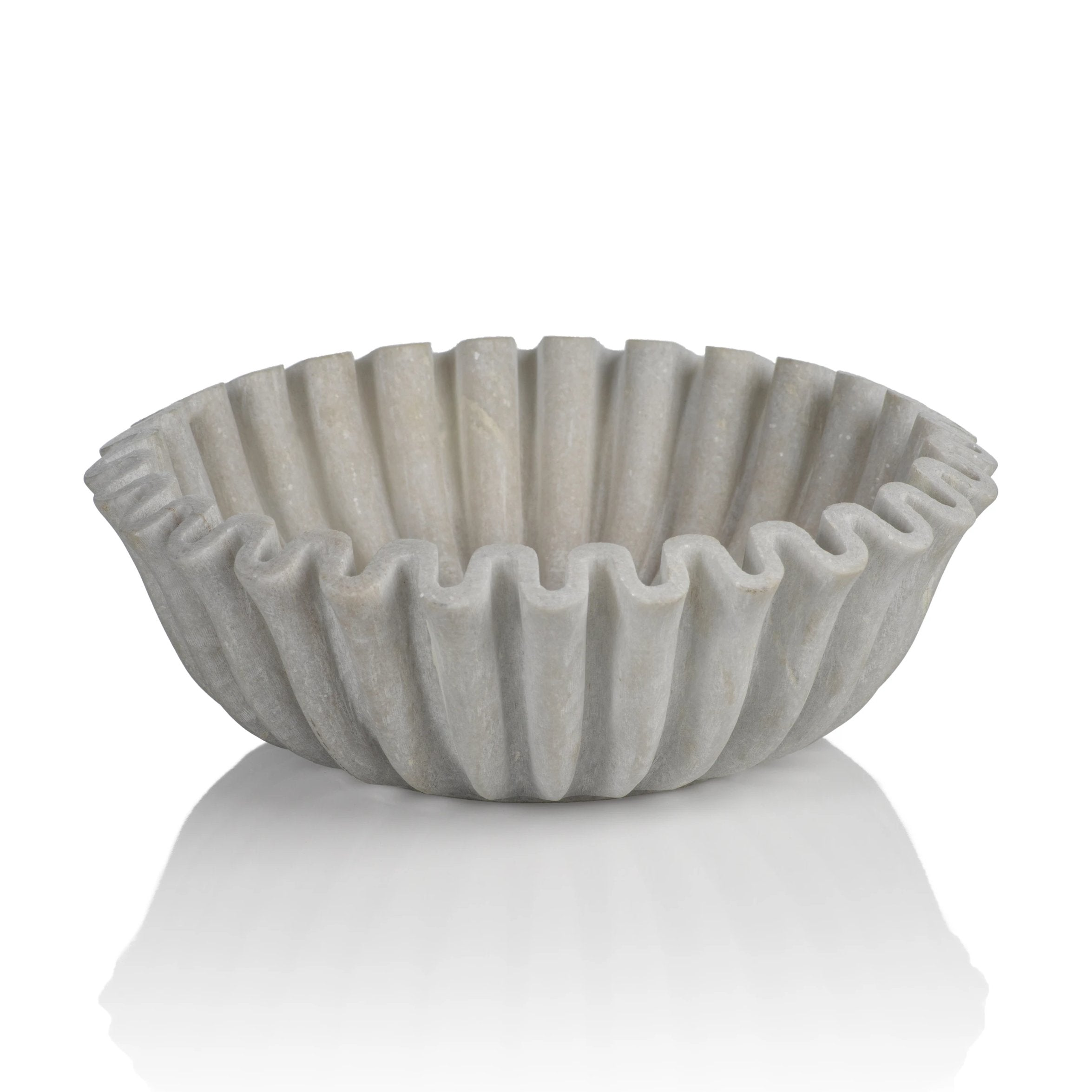 Scalloped Marble Bowl - CARLYLE AVENUE