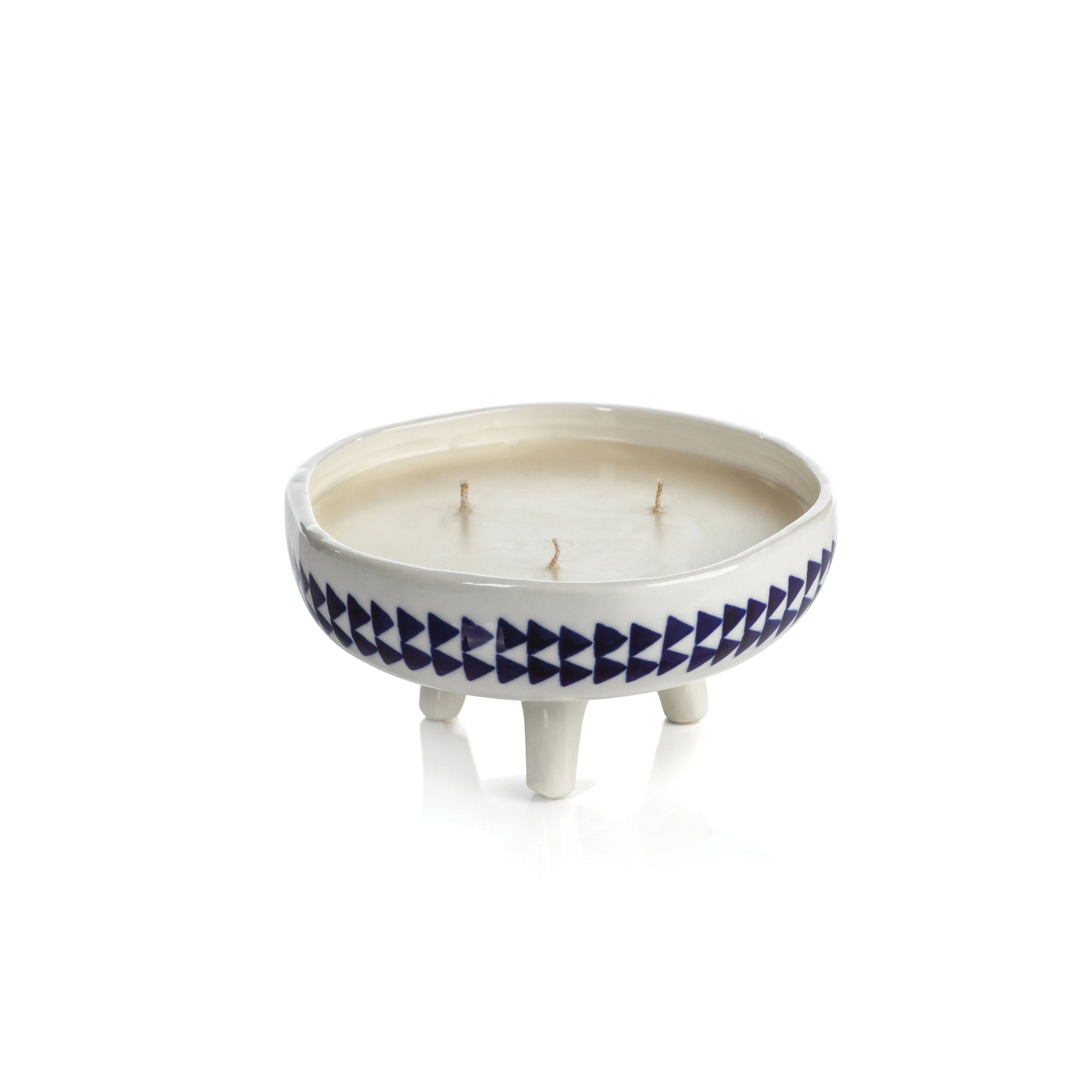 Blue Lagoon Candle - Triangle Pattern - Short - CARLYLE AVENUE