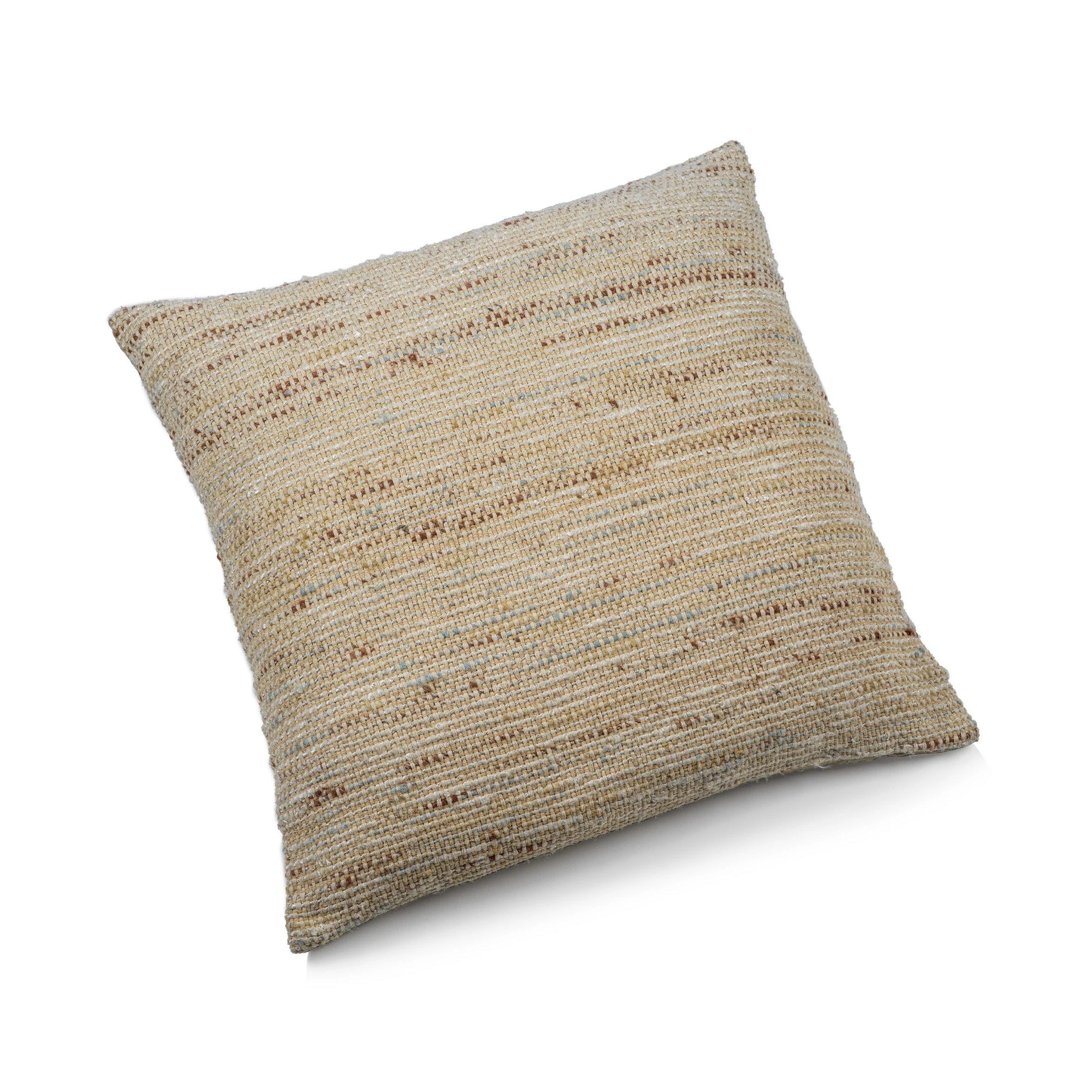 Palm Handwoven Natural Throw Pillow - CARLYLE AVENUE