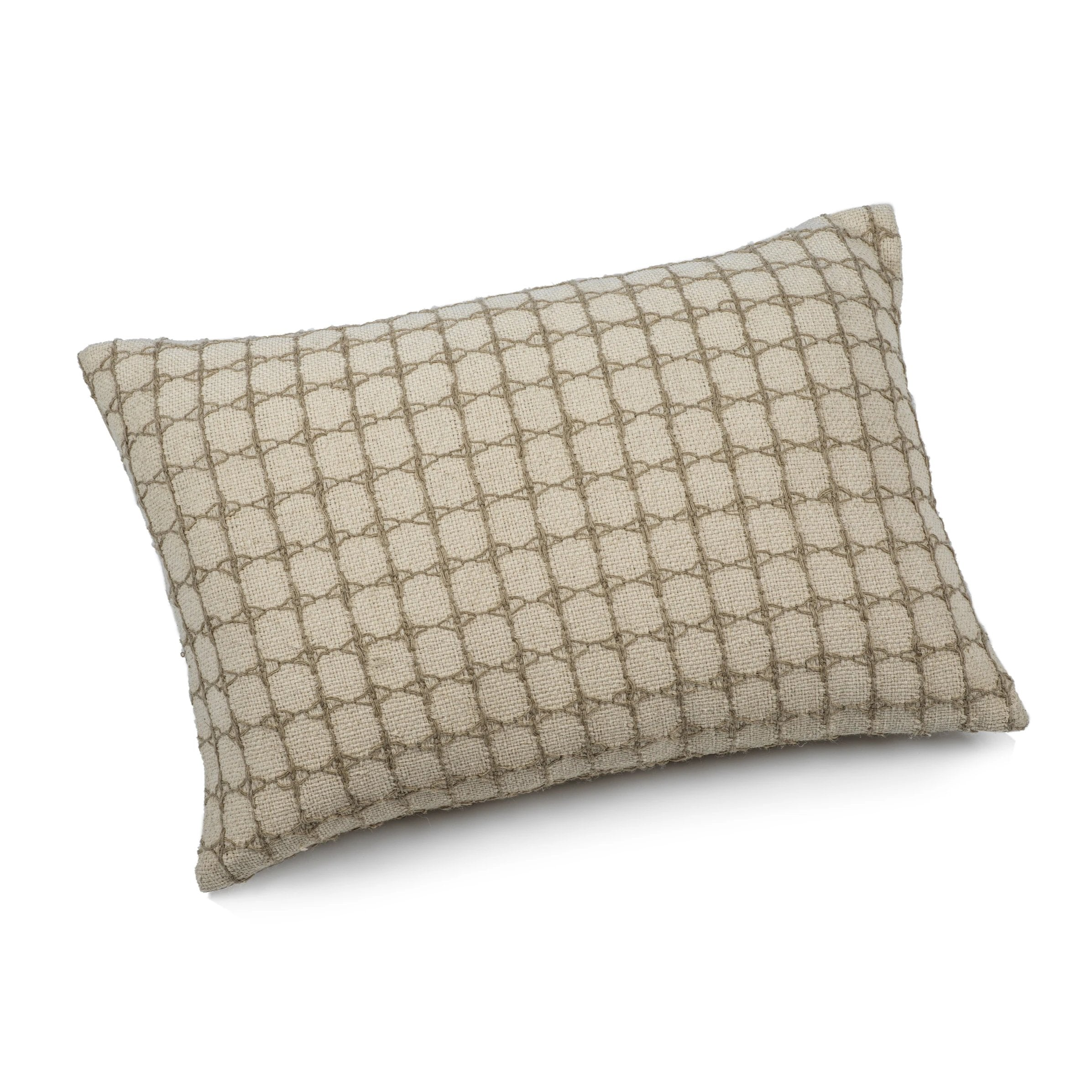 Canaria Linen Interlacing Throw Pillow - 16
