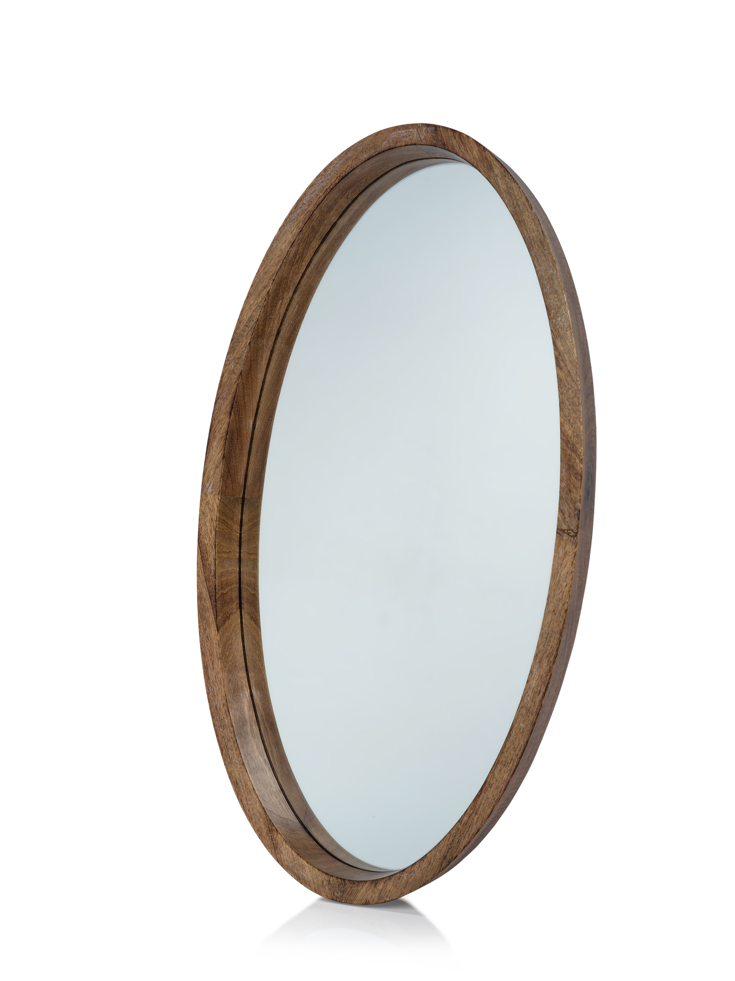 Heritage Mango Wood Oval Mirror - CARLYLE AVENUE