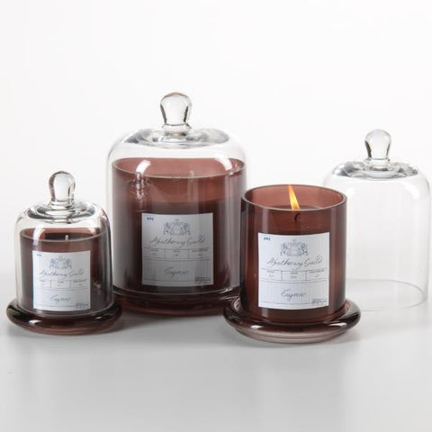 Apothecary Guild Domed Candle - Brown
