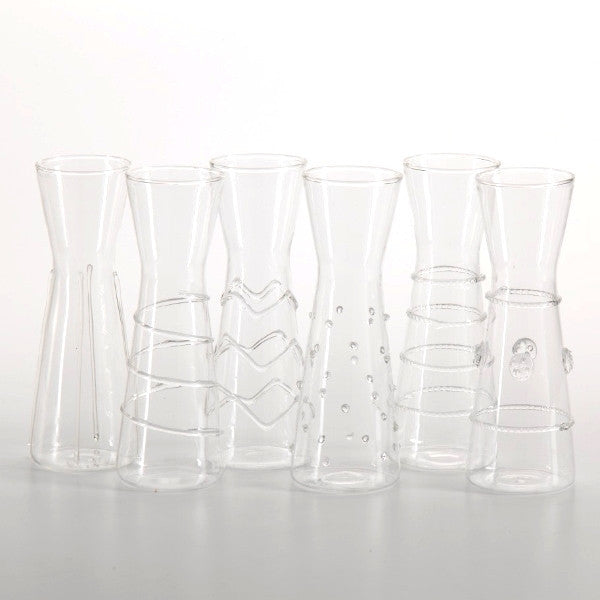 Raised Design Individual Carafes - Set of 6 -  - CARLYLE AVENUE - 2