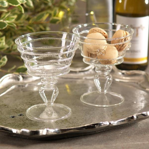 Raised Design Compote Bowls - Set of 4