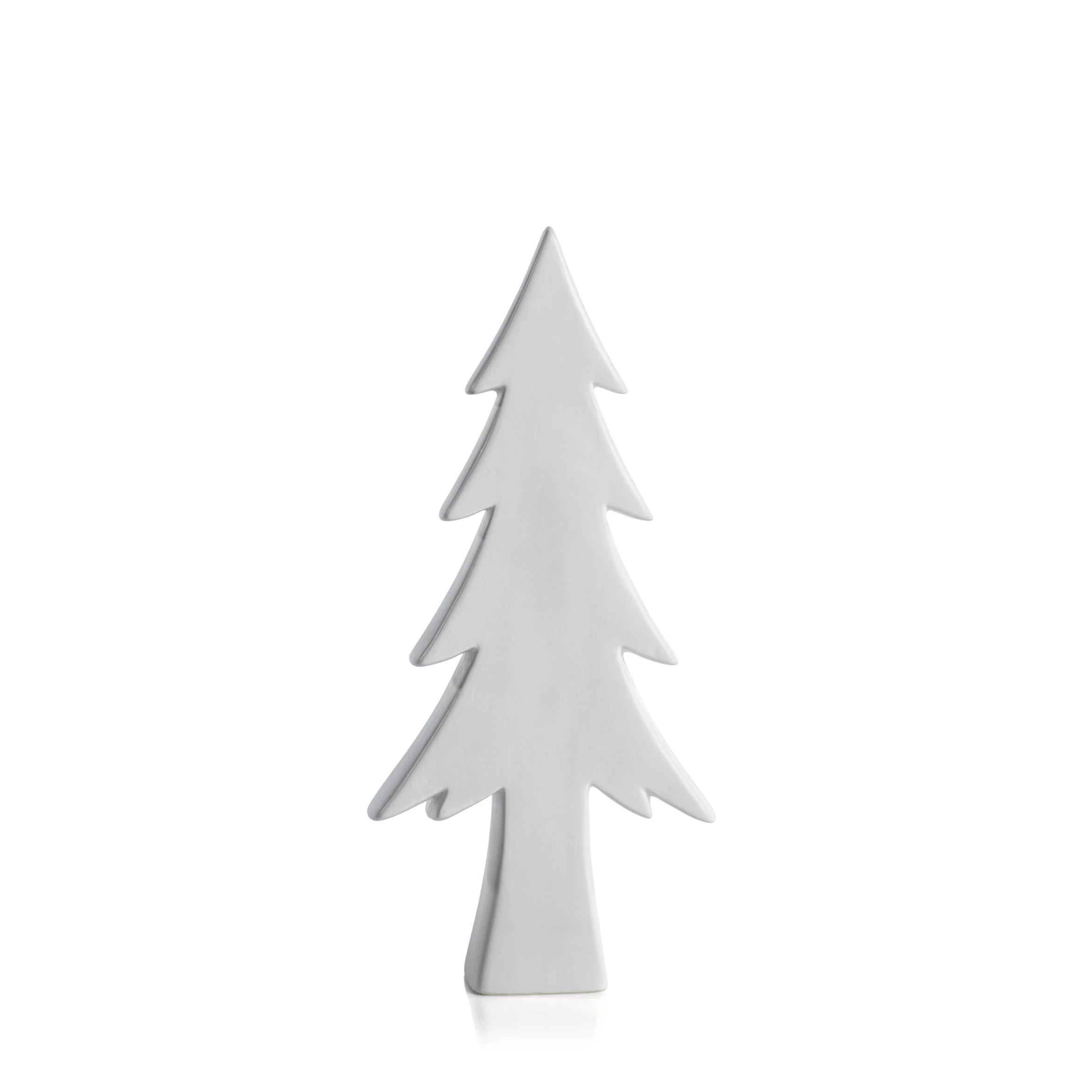 Matt White Decorative Tree