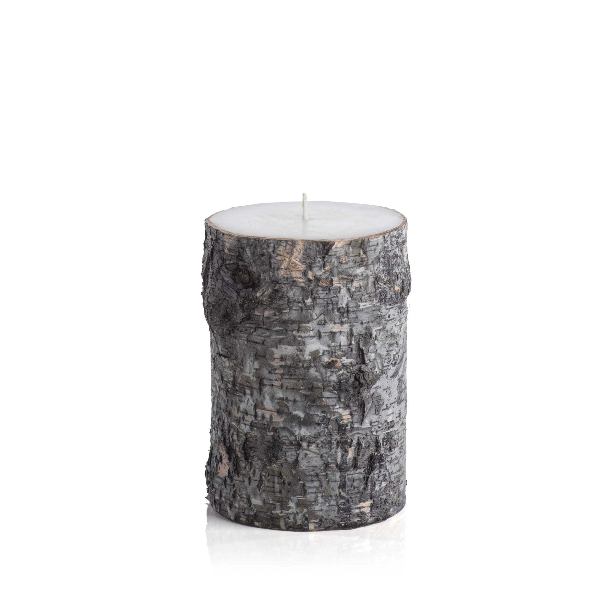 Dark Birchwood Fragrance Free Pillar Candle - CARLYLE AVENUE