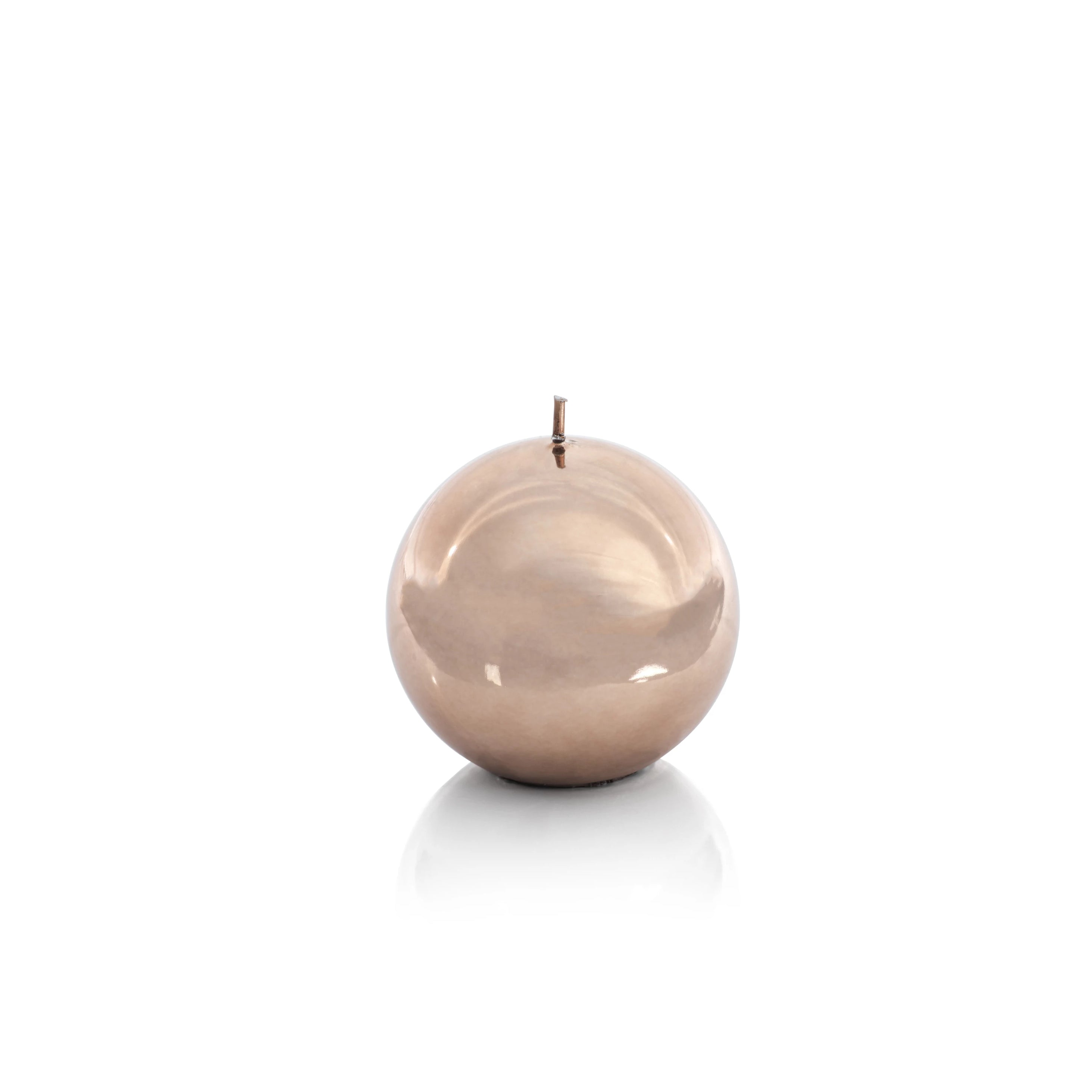Shiny Metallic Ball Candle - Gold Bronze - CARLYLE AVENUE