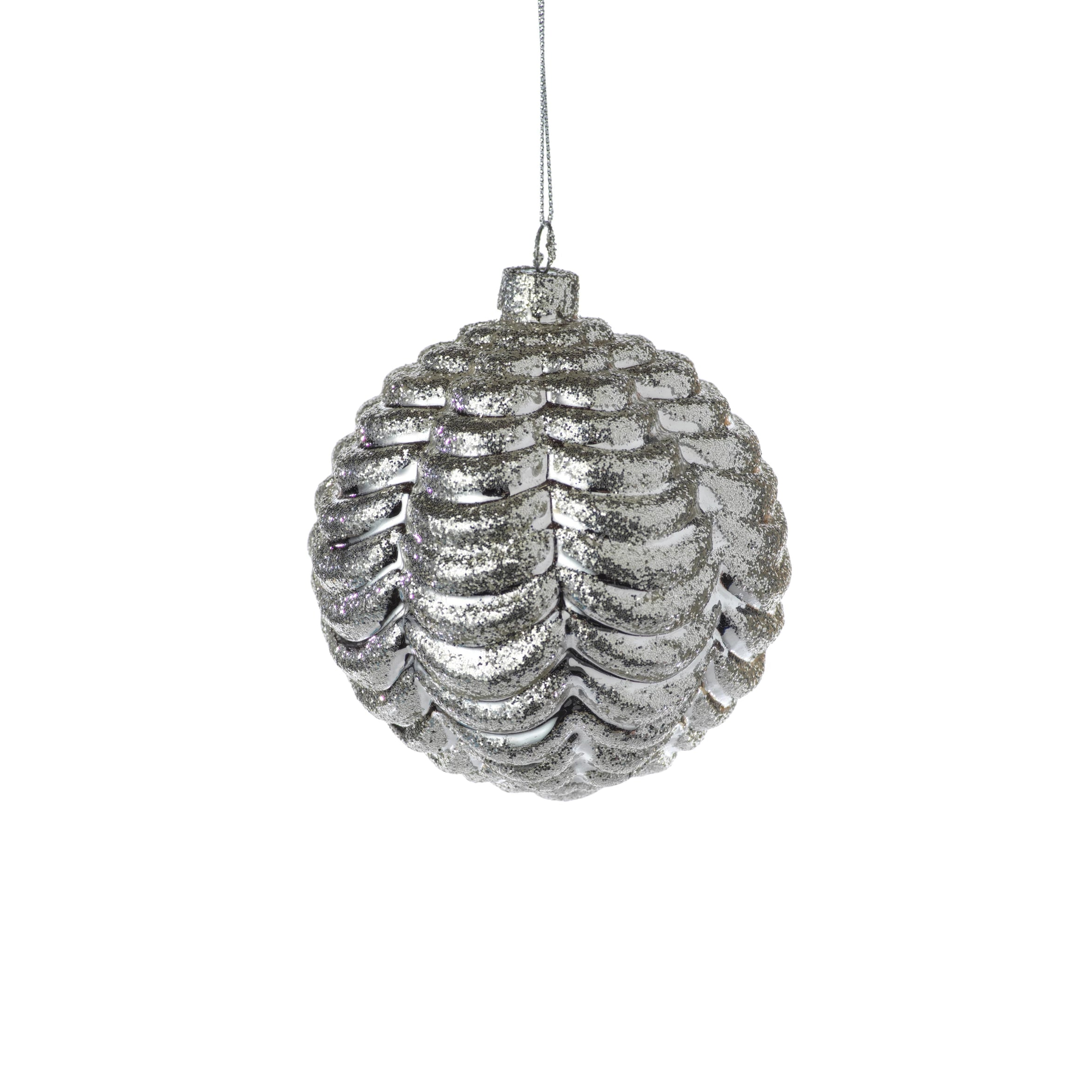 Silver Ripple Ball Ornament - CARLYLE AVENUE