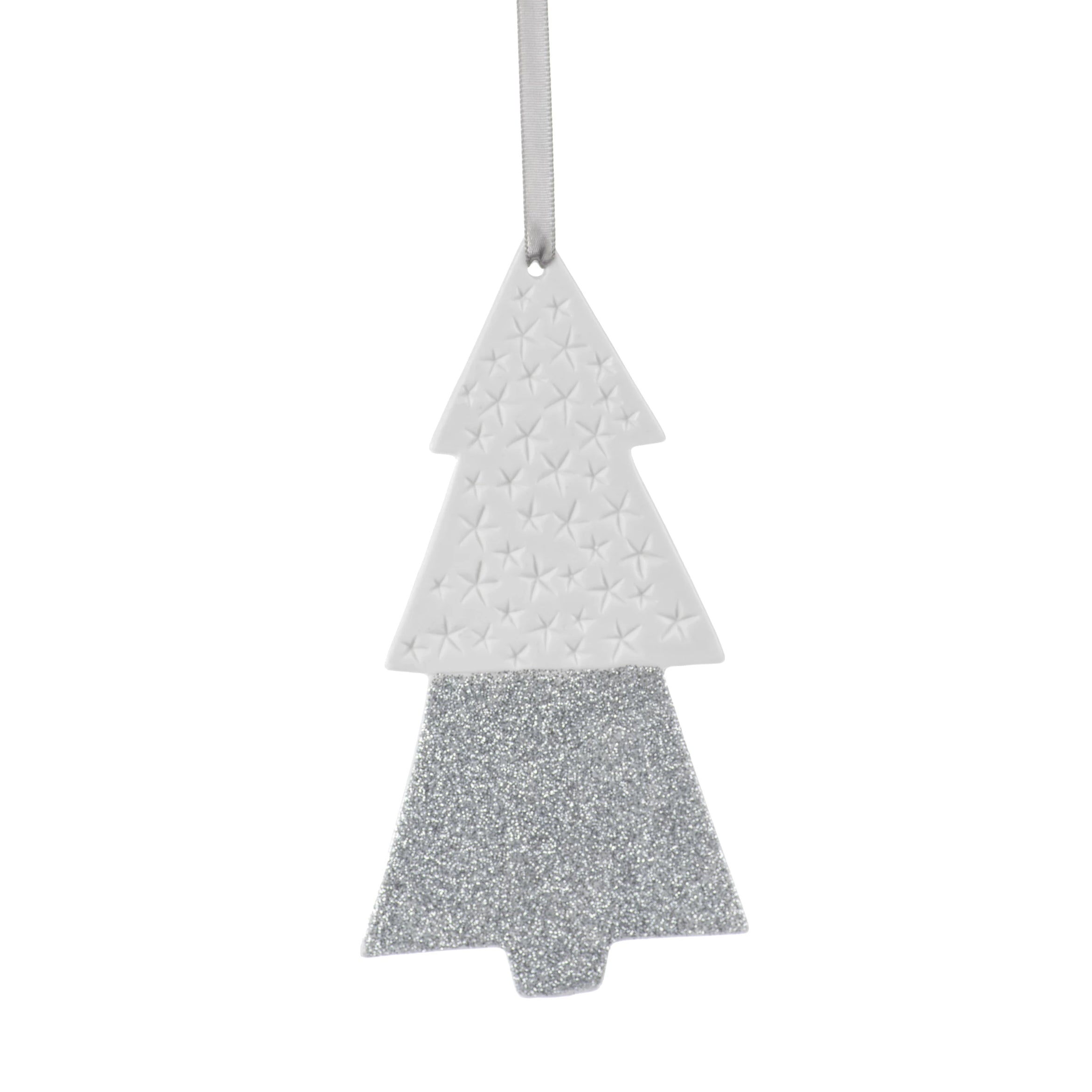 Two-Tone Tree Ornaments - Silver - CARLYLE AVENUE