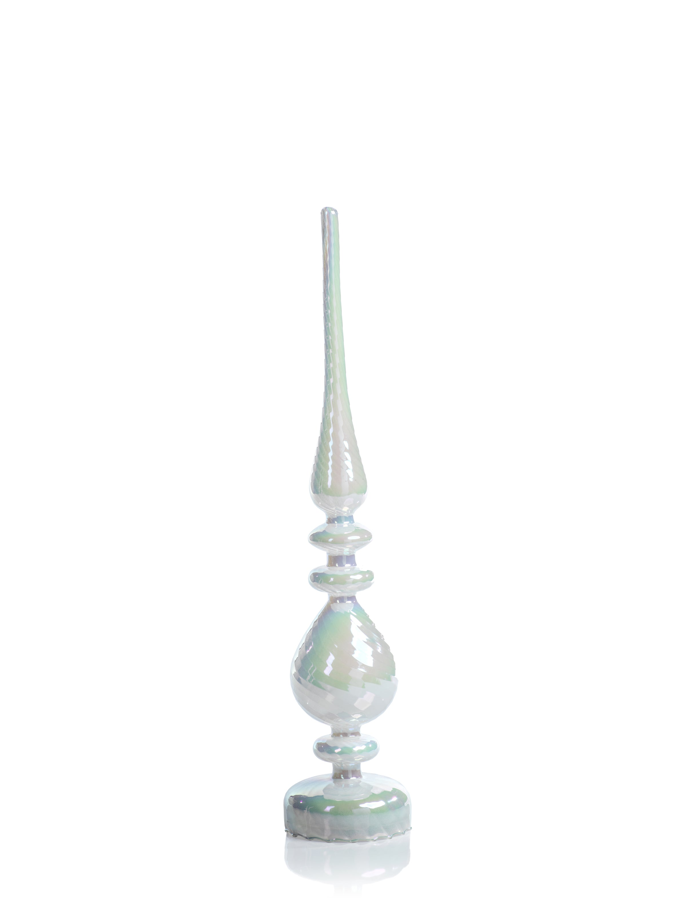 LED Glass Finial - White