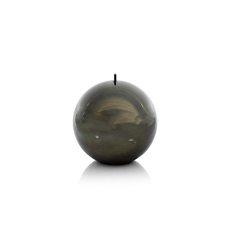 Shiny Metallic Ball Candle - Dark Green - CARLYLE AVENUE