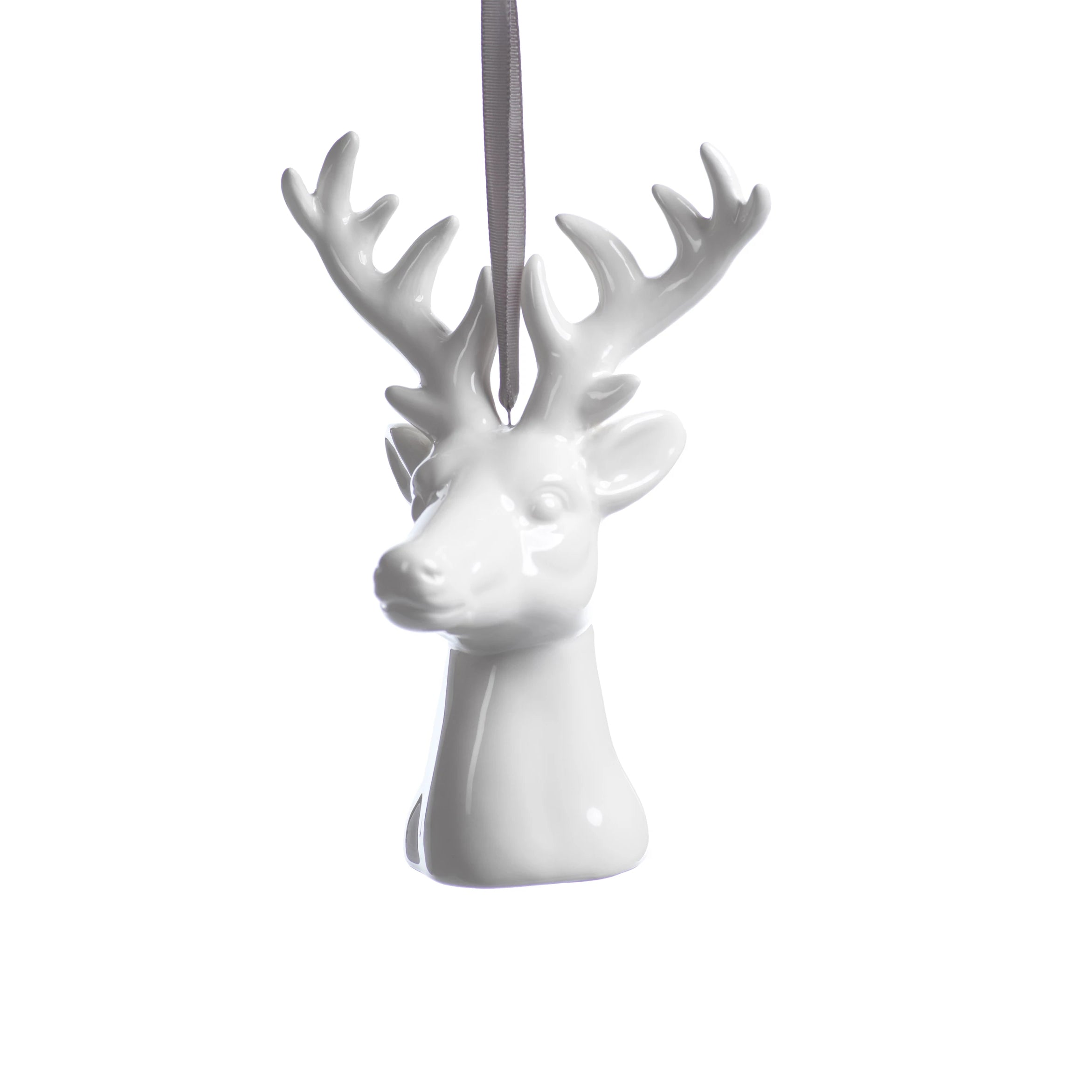 Ceramic White Reindeer Ornament - Set of 4 - CARLYLE AVENUE