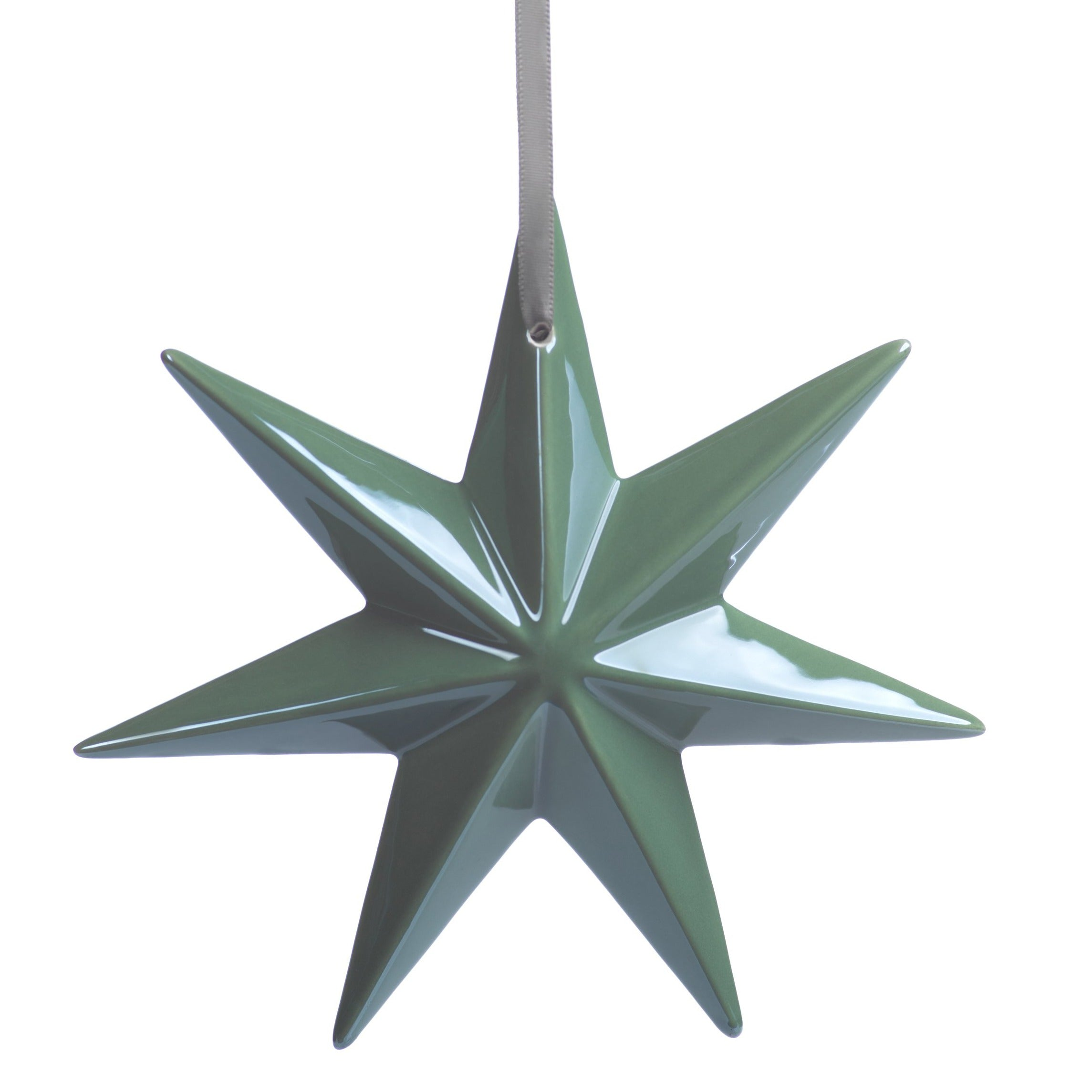 Green Ceramic Star Ornament - CARLYLE AVENUE