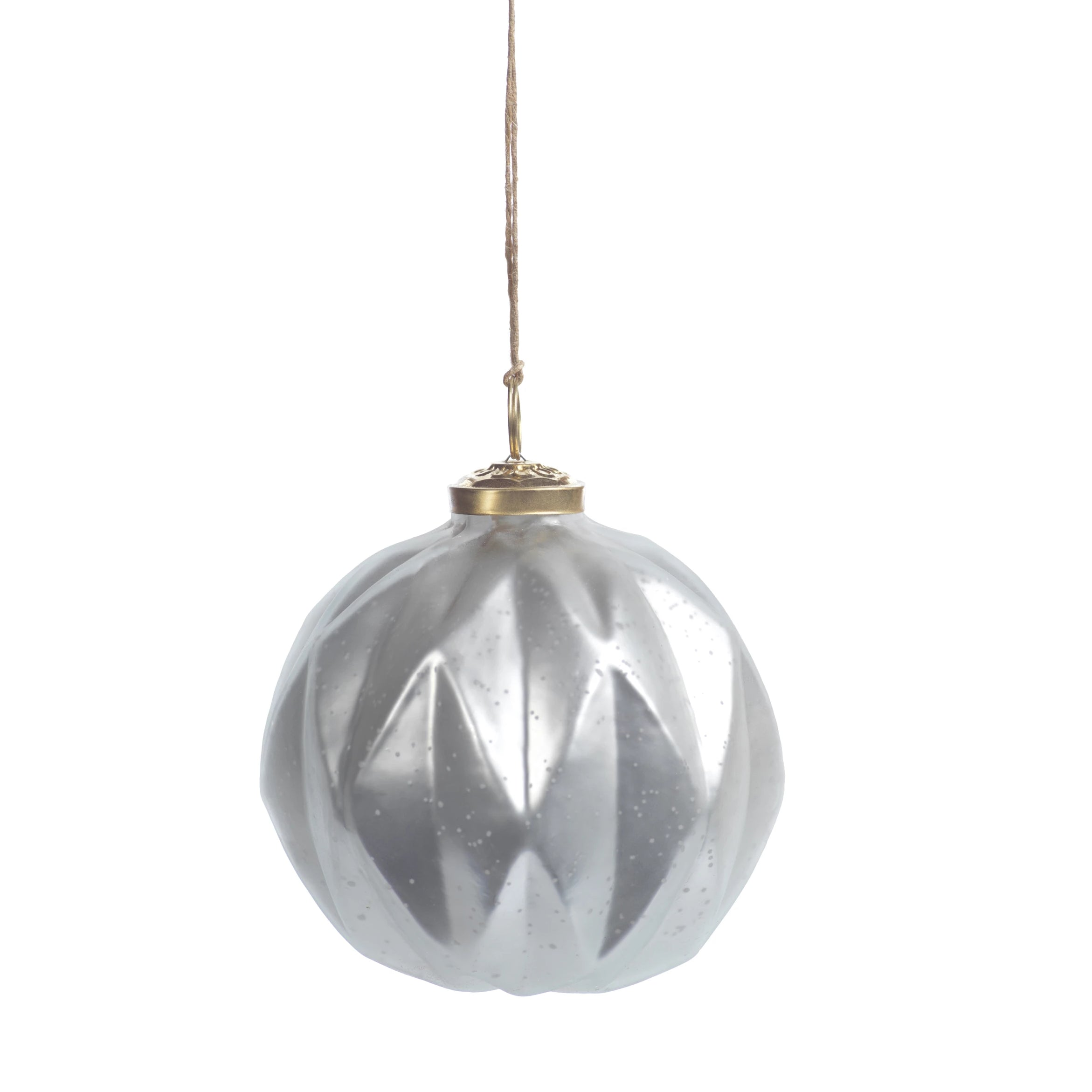 Faceted Glass Ornaments - Silver