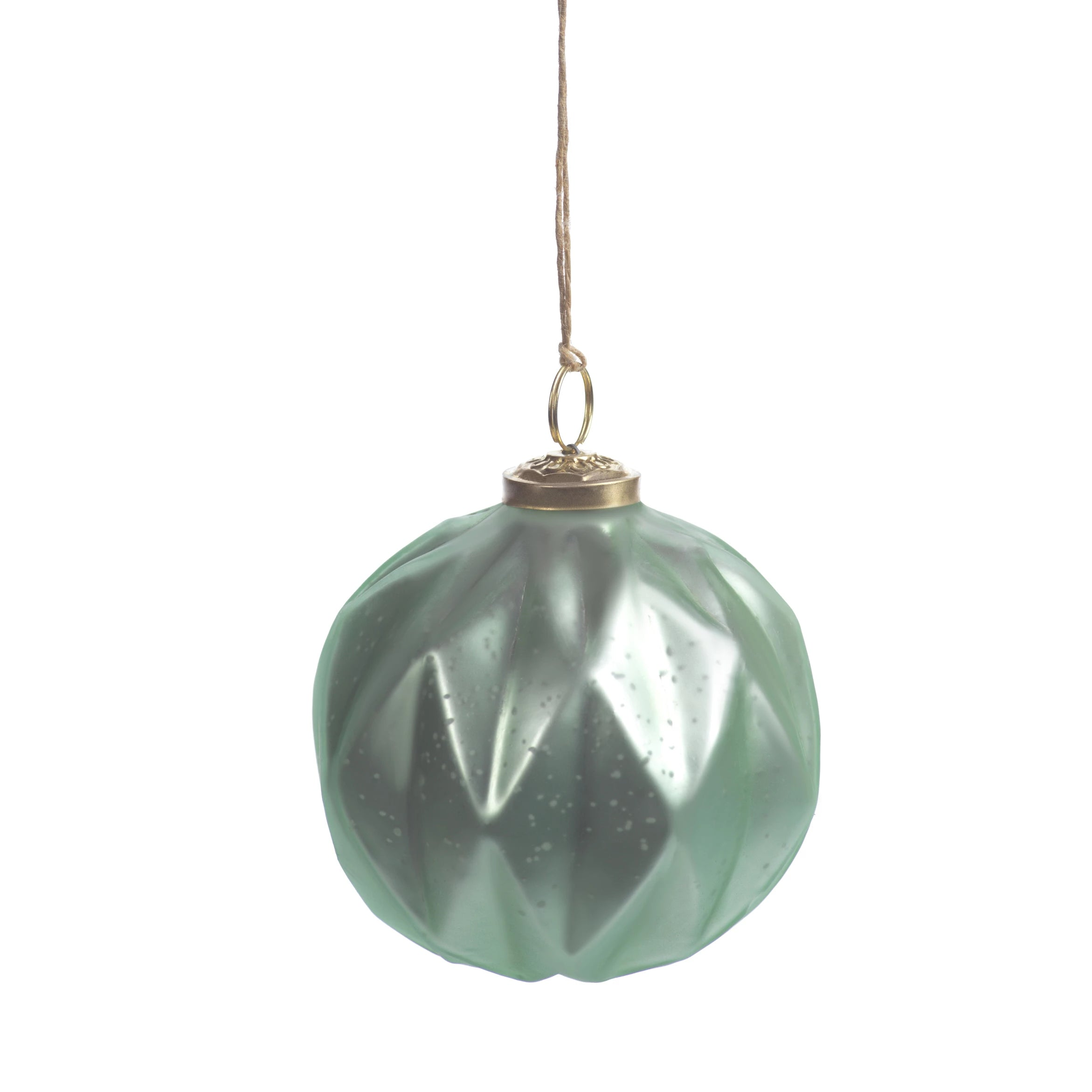 Faceted Glass Ornaments - Green - CARLYLE AVENUE