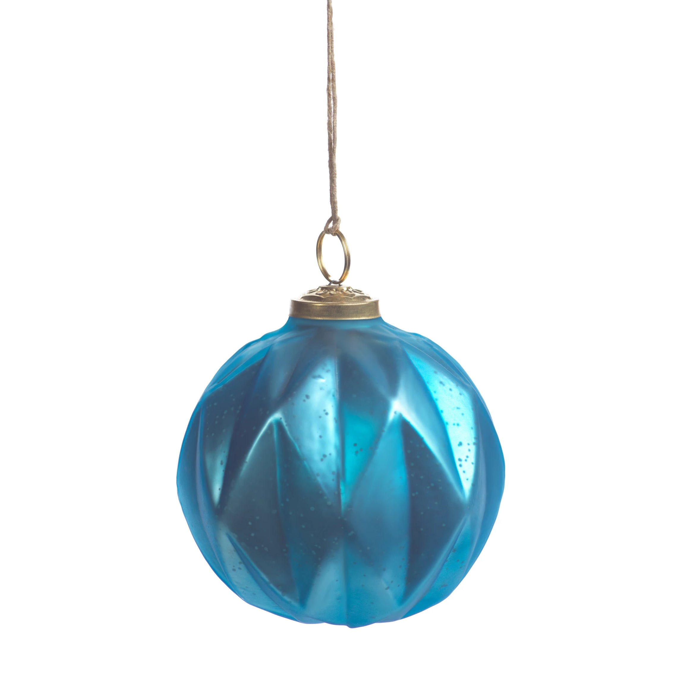 Faceted Glass Ornaments - Light Blue - CARLYLE AVENUE
