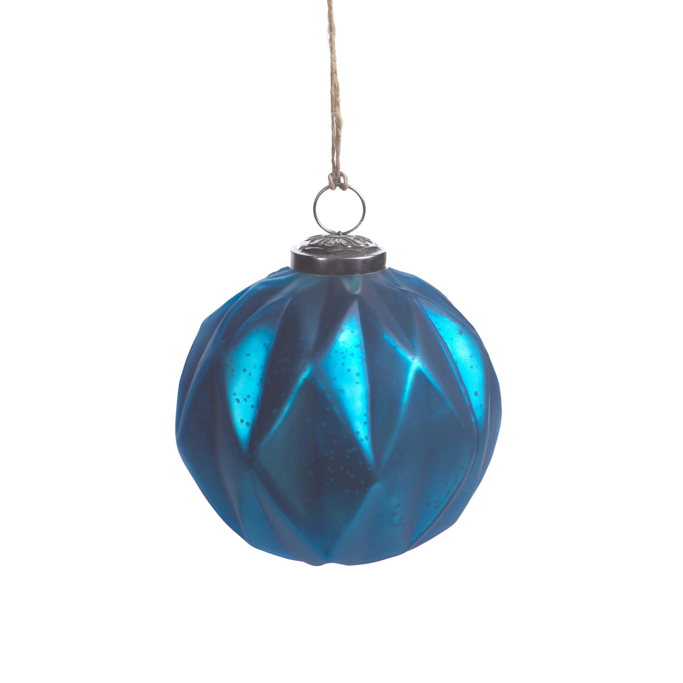 Faceted Glass Ornaments - Midnight Blue - CARLYLE AVENUE
