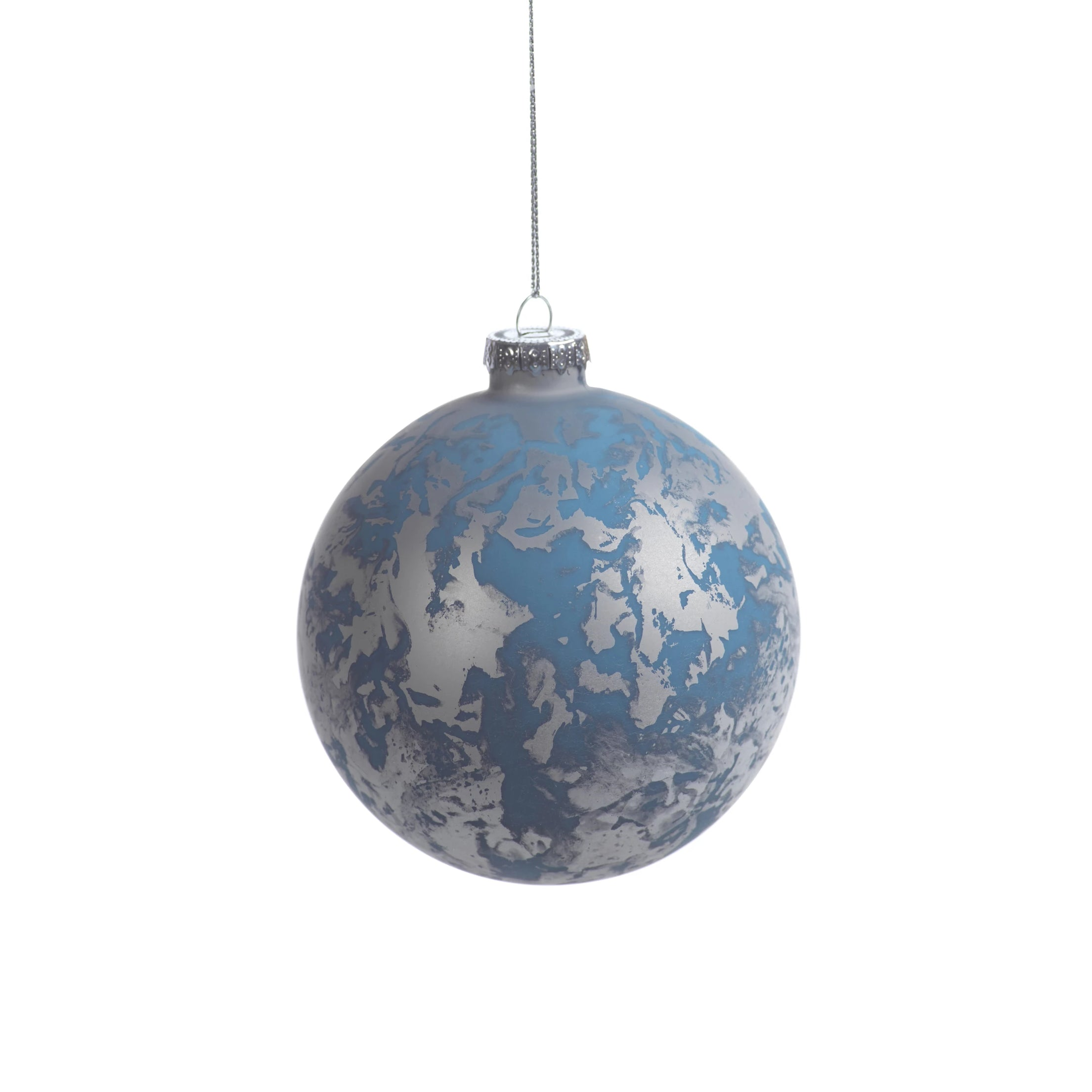 Patch Metallic Ornament - Silver& Blue