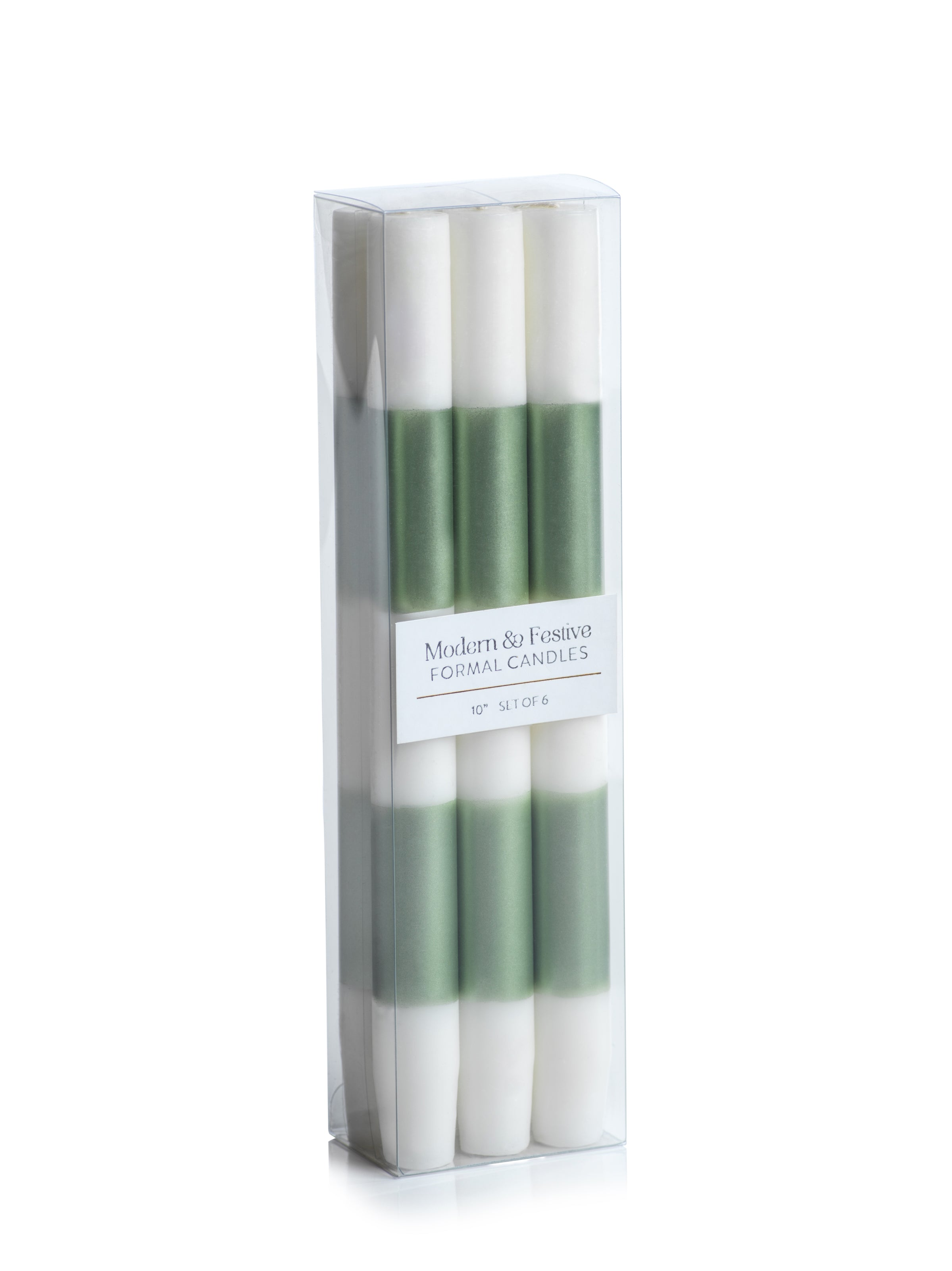 Modern & Festive Metallic Formal Taper Candles - Box of 6 - CARLYLE AVENUE
