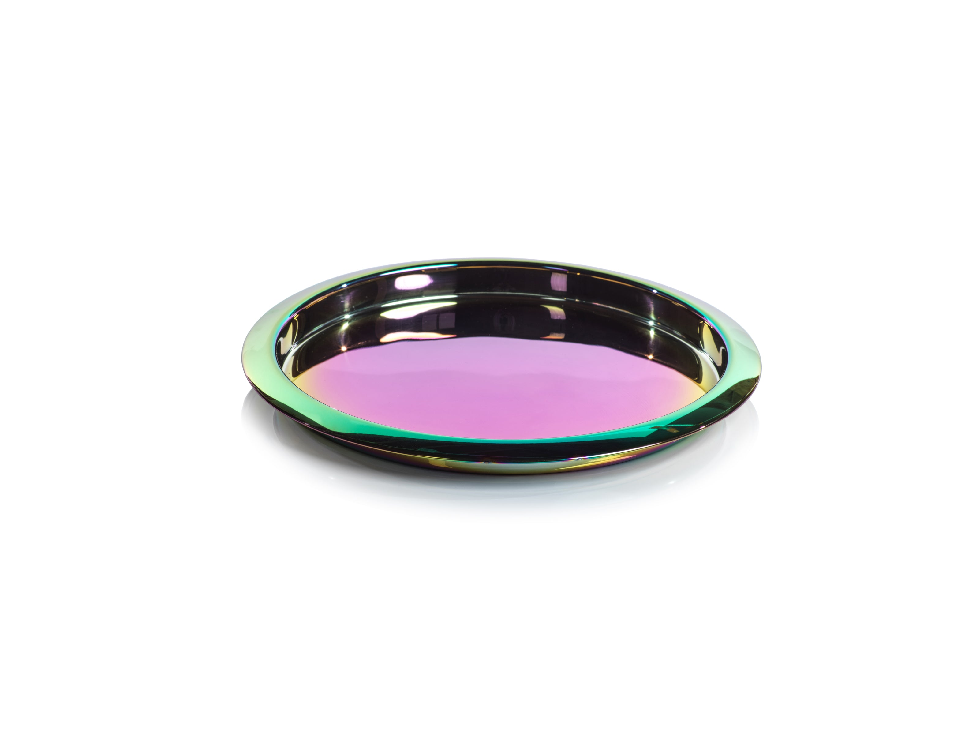 Stainless Steel Rainbow Round Serving Tray - CARLYLE AVENUE