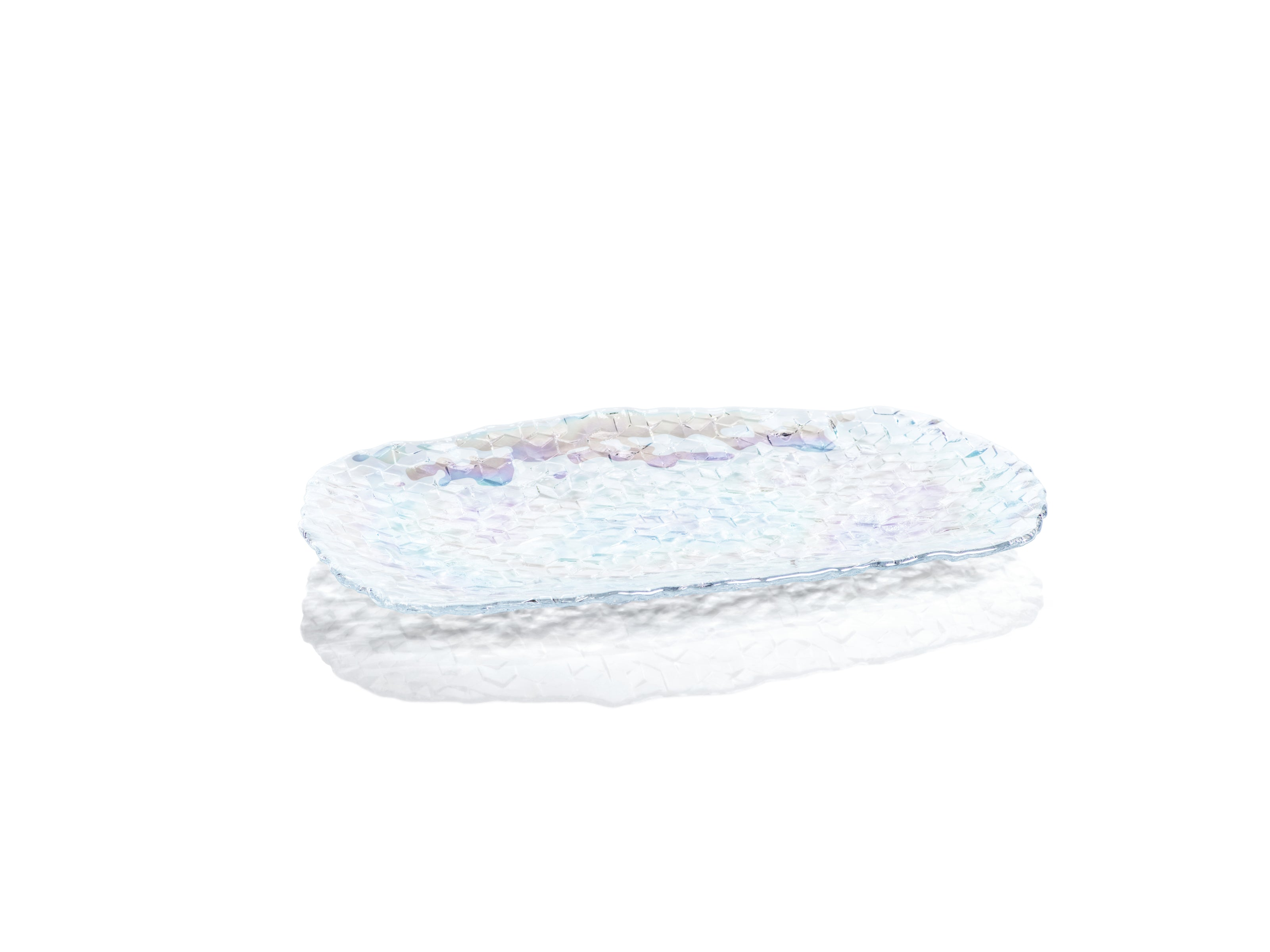 Cubic Iris Luster Serving Tray - CARLYLE AVENUE