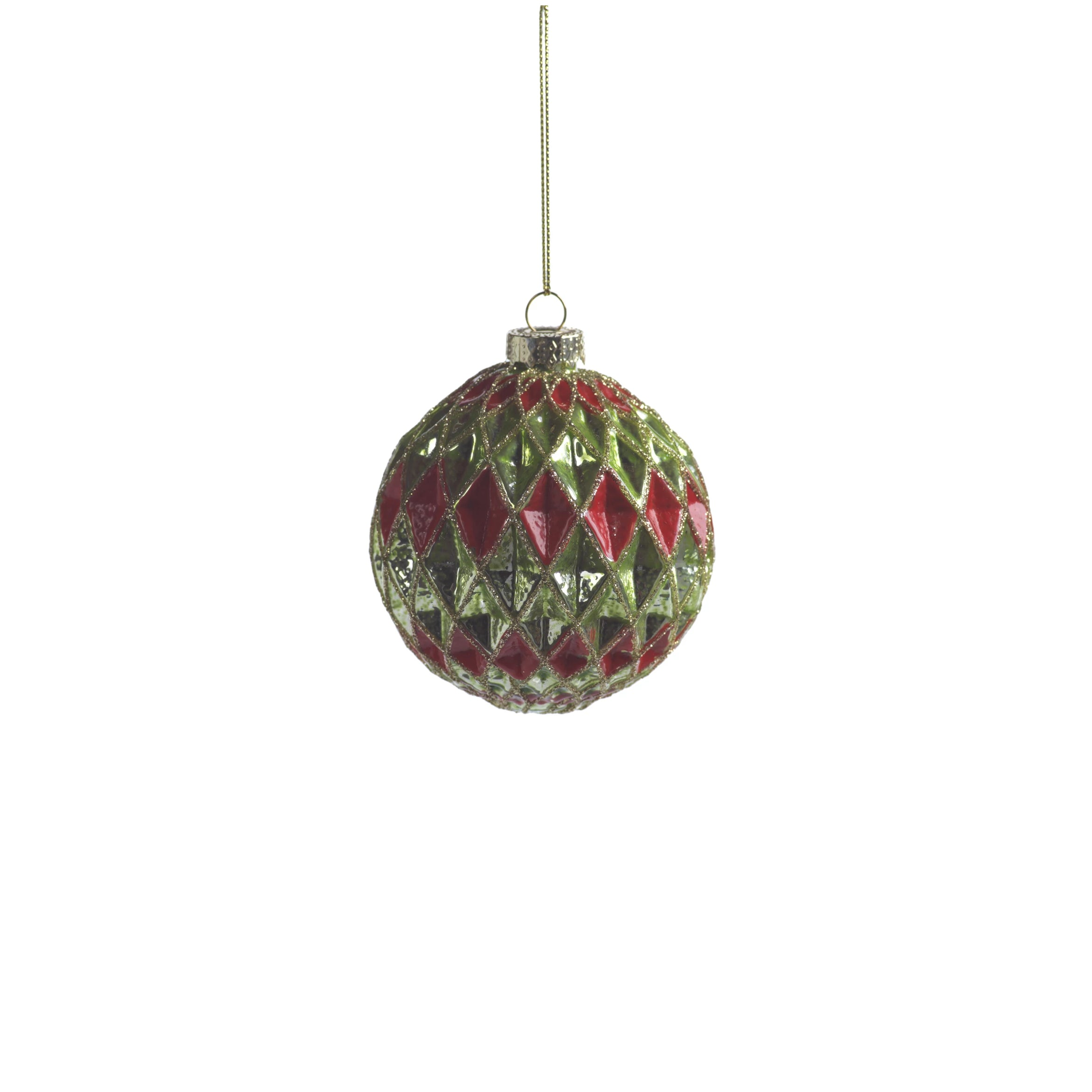 Carnival Ball Ornament - Green & Red - CARLYLE AVENUE