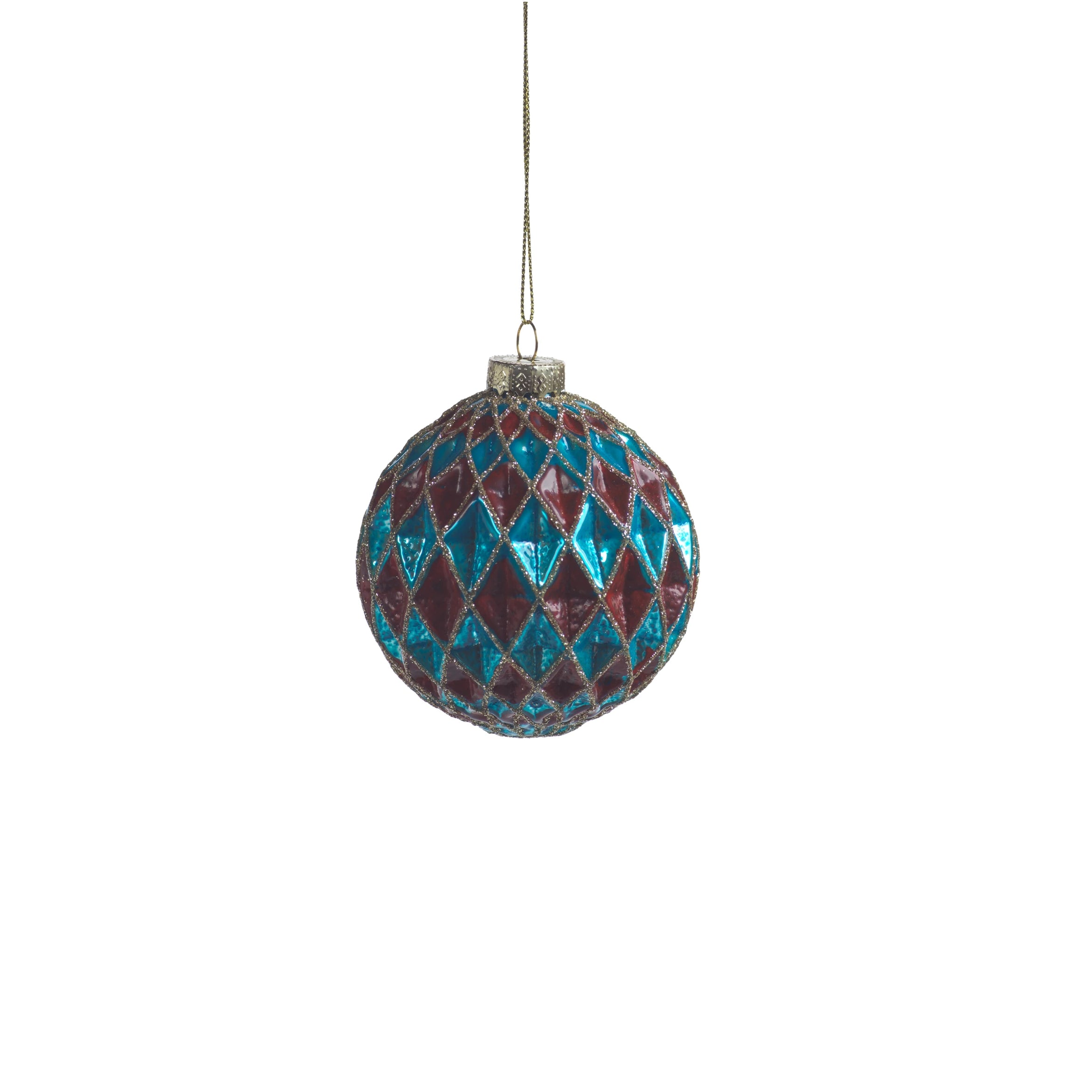 Carnival Ball Ornament - Blue & Red - CARLYLE AVENUE
