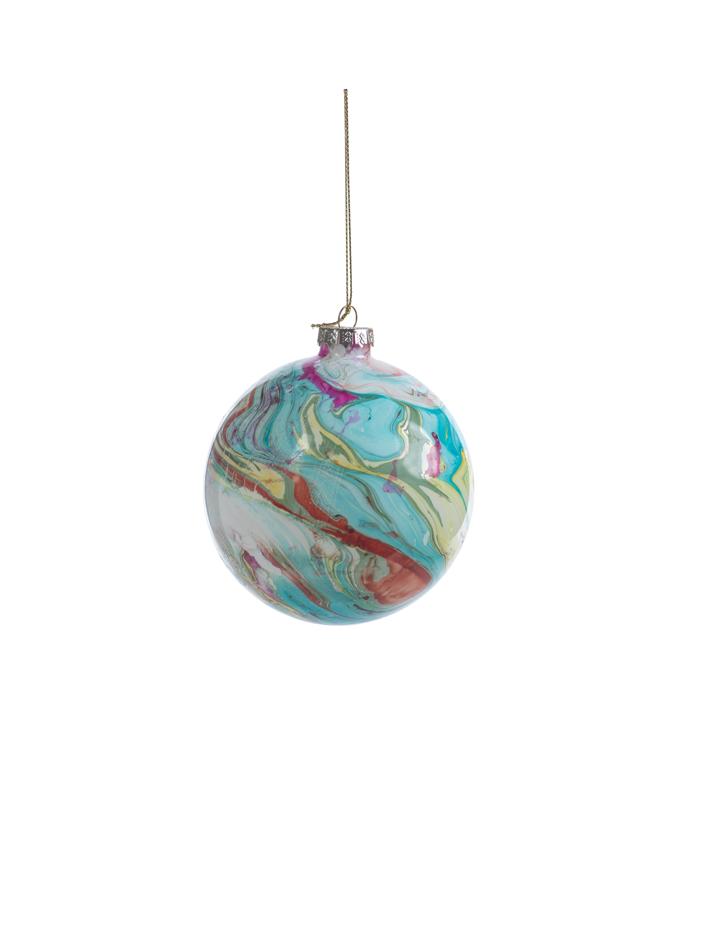 Marble Metallic Ornament - Multi Color