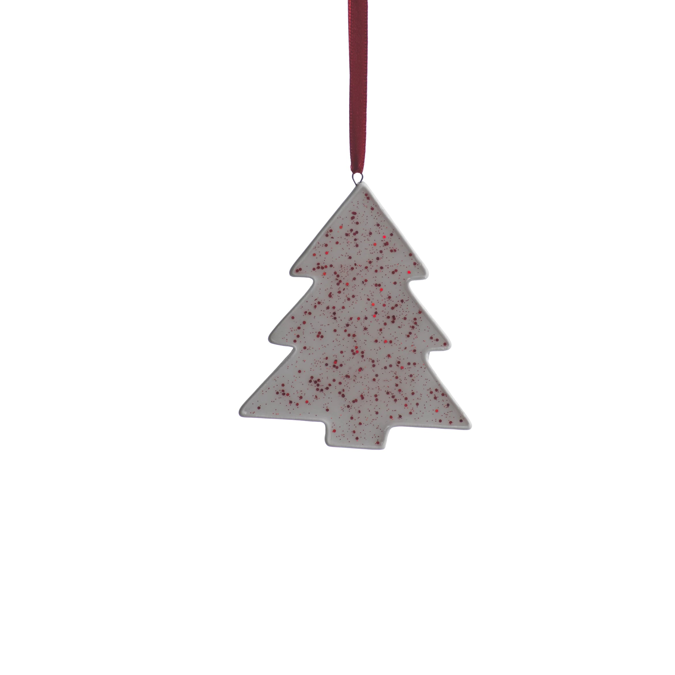 Speckled Tree Ornament - Red - CARLYLE AVENUE