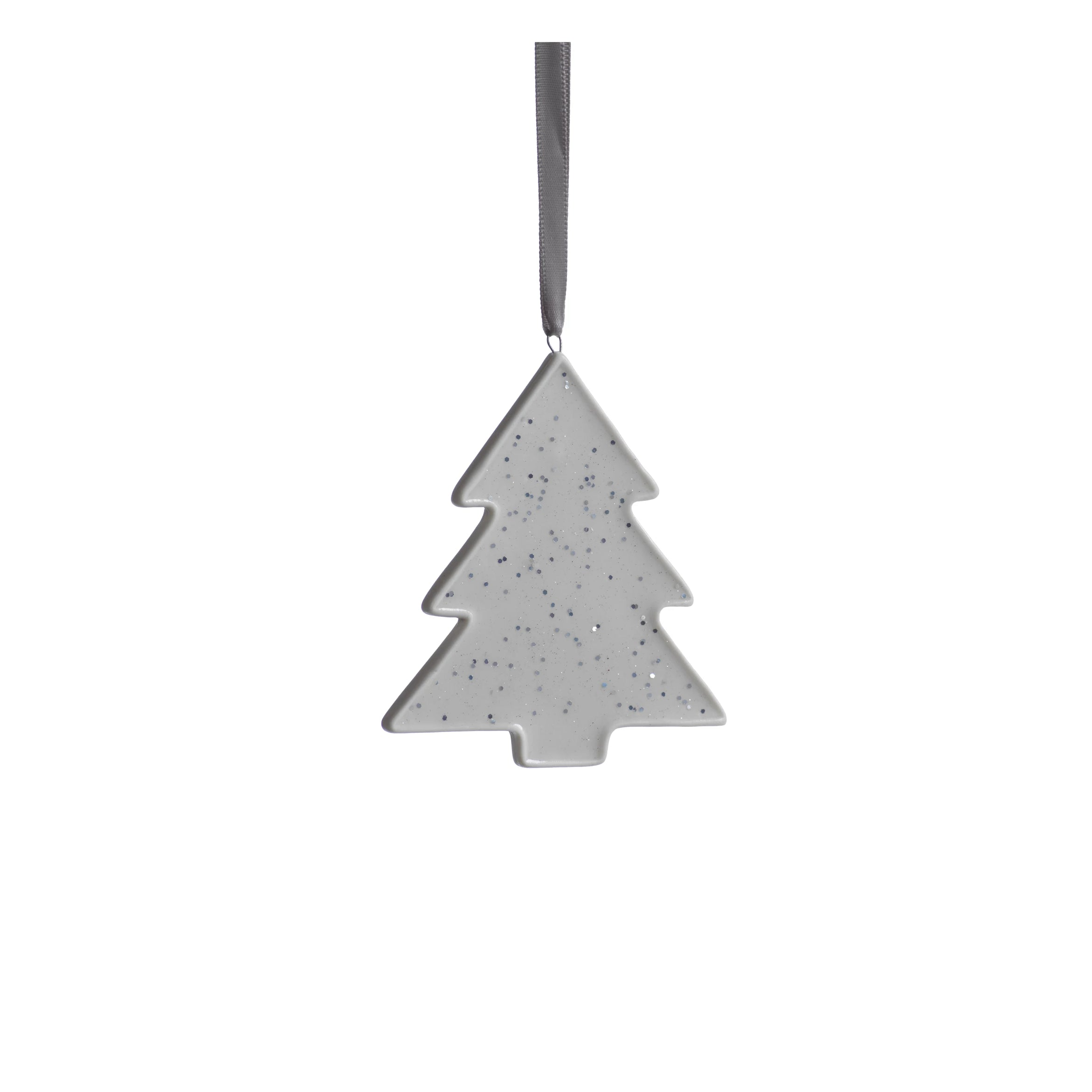Speckled Tree Ornament - Silver