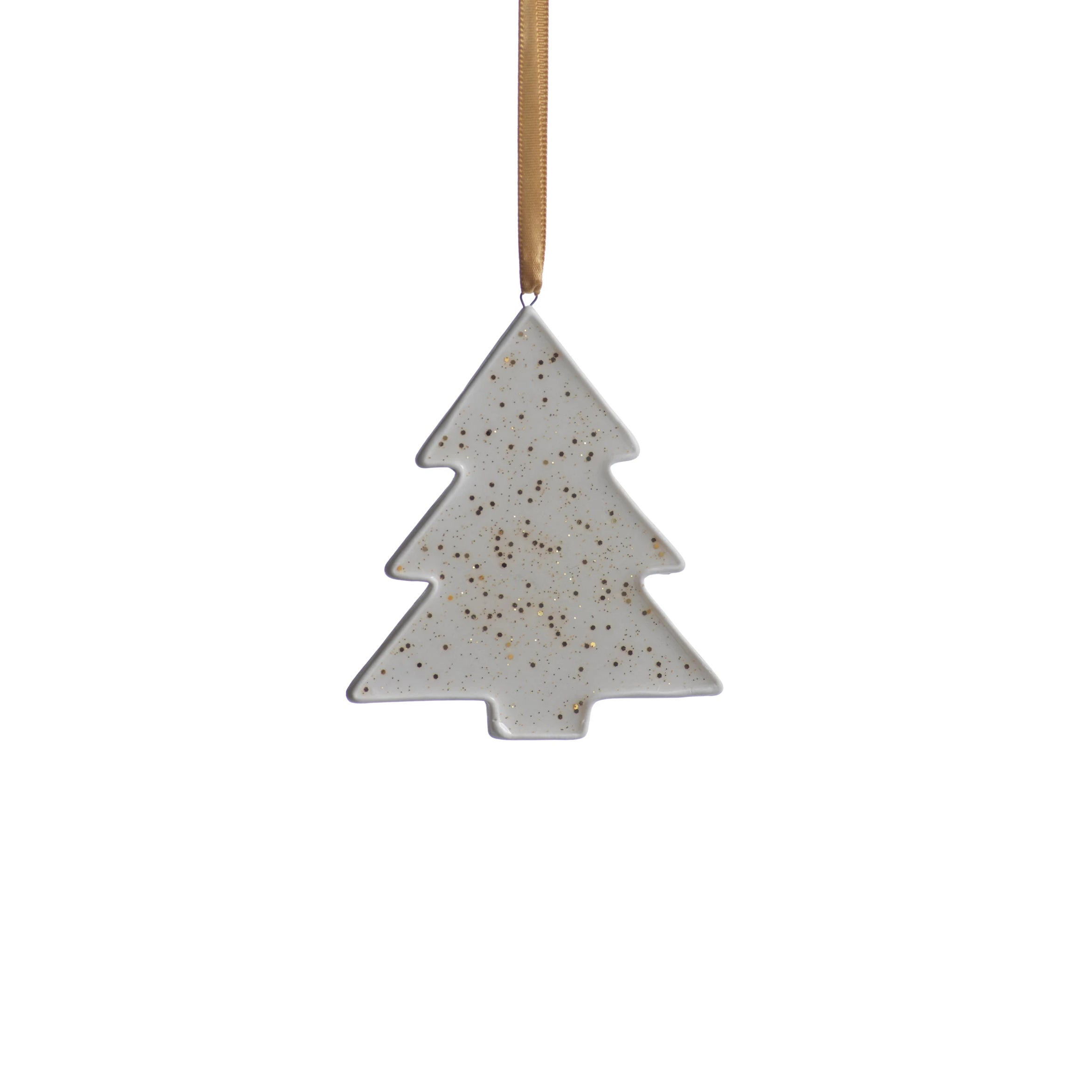 Speckled Tree Ornament - Gold
