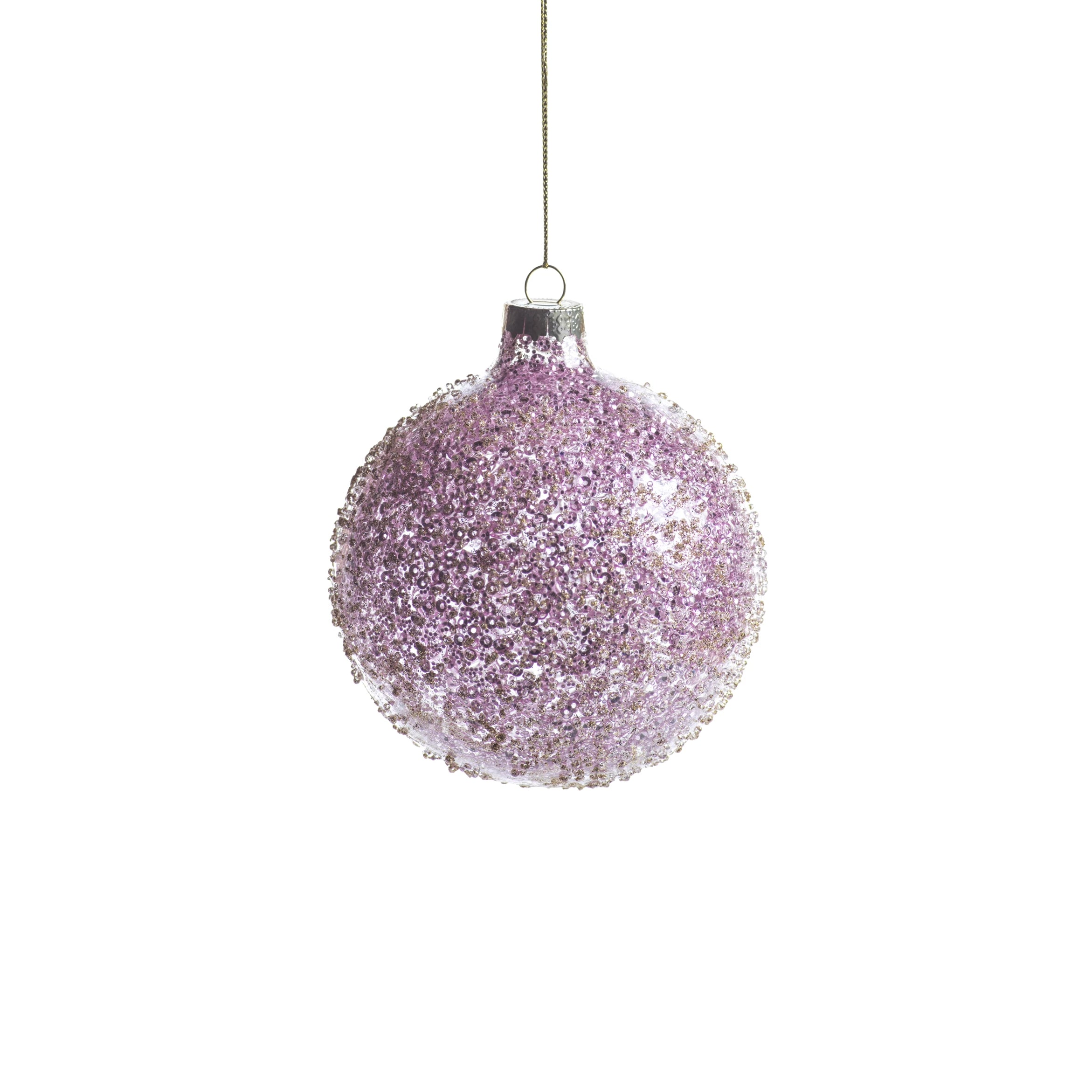 Pink Beaded Ball Ornament - CARLYLE AVENUE