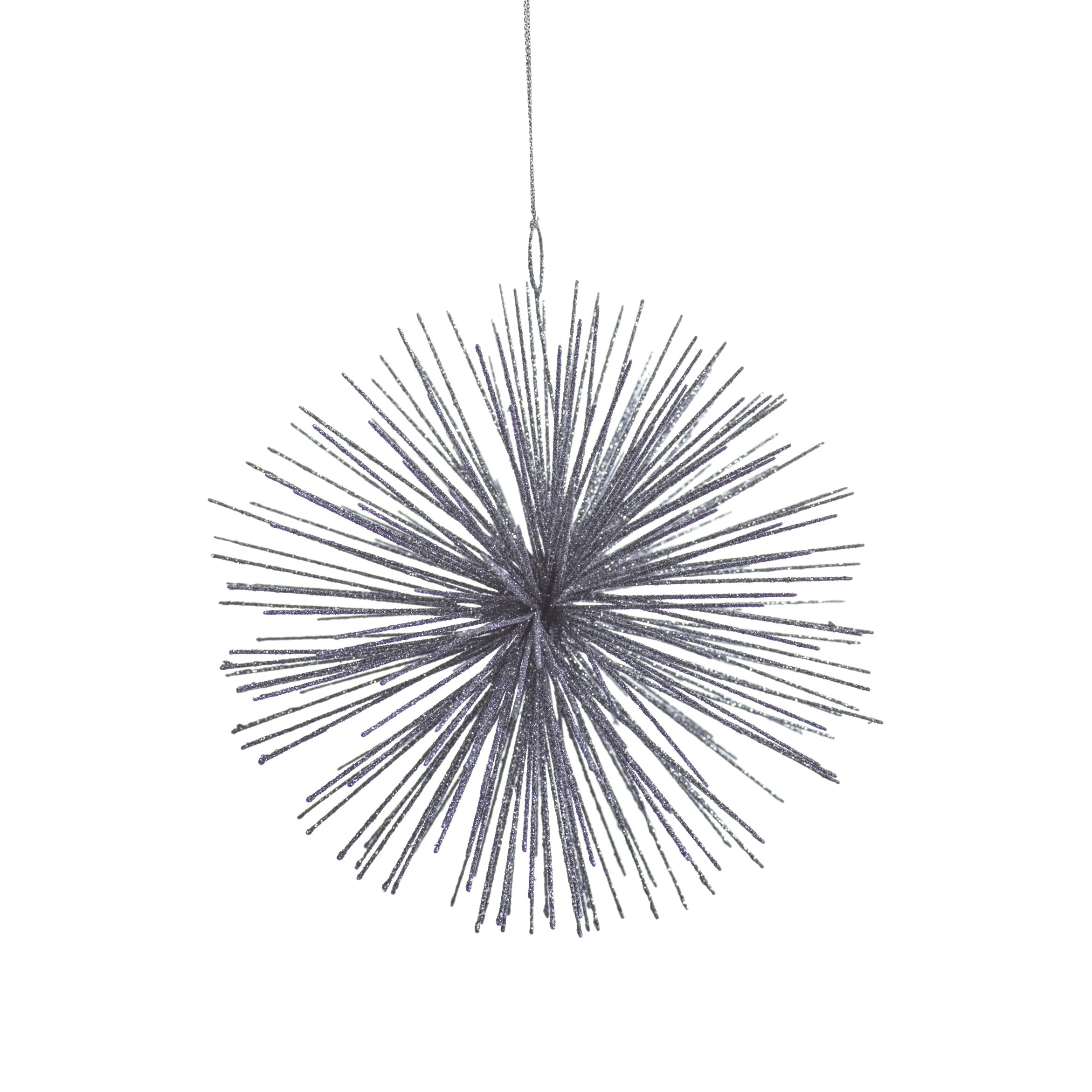 Wire Star Burst Ornament - Silver - CARLYLE AVENUE