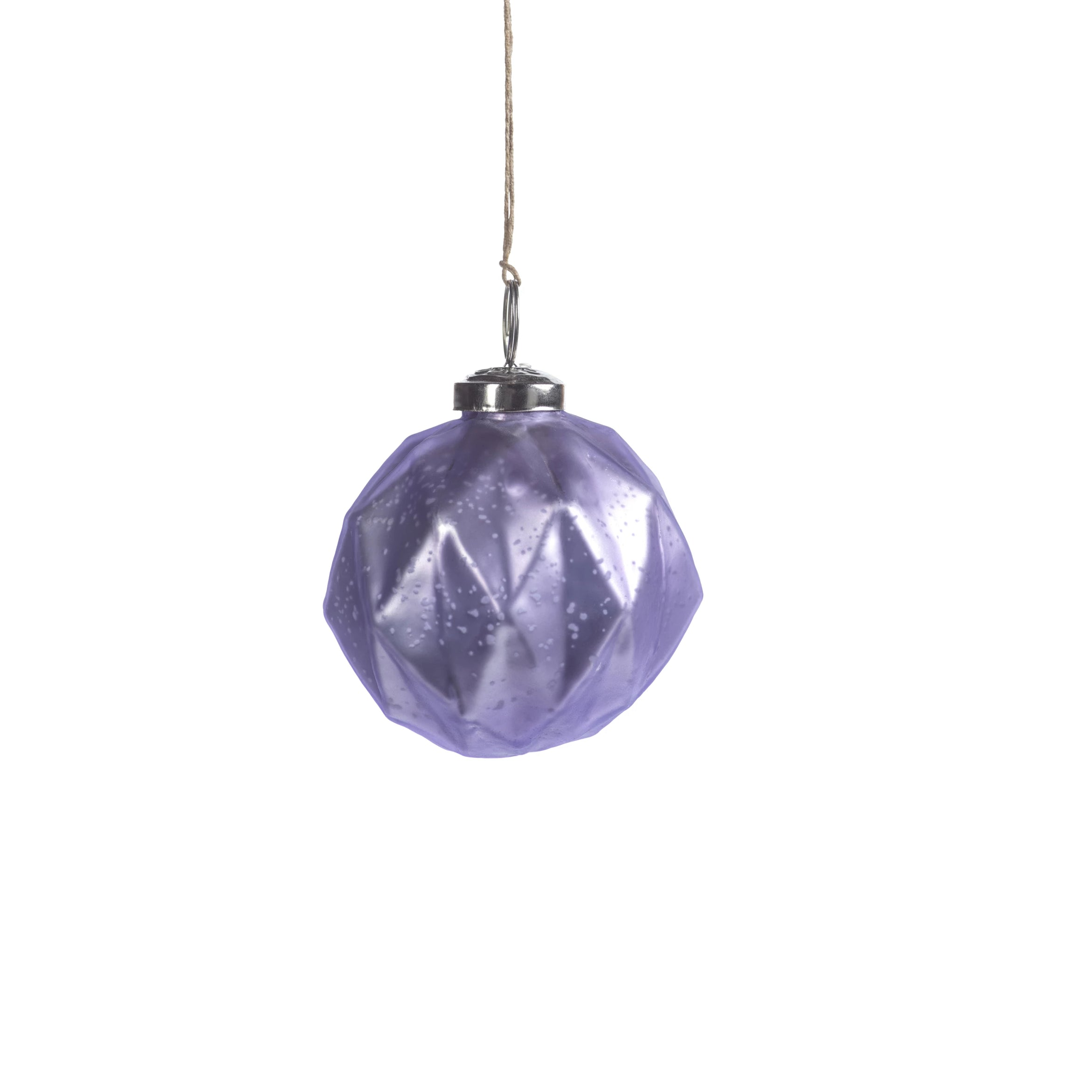 Faceted Glass Ornaments - Purple - CARLYLE AVENUE