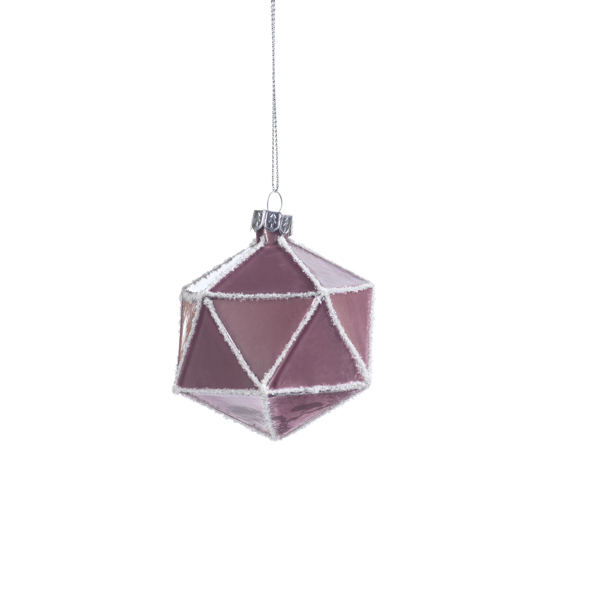 Metallic Pink Faceted Ornament