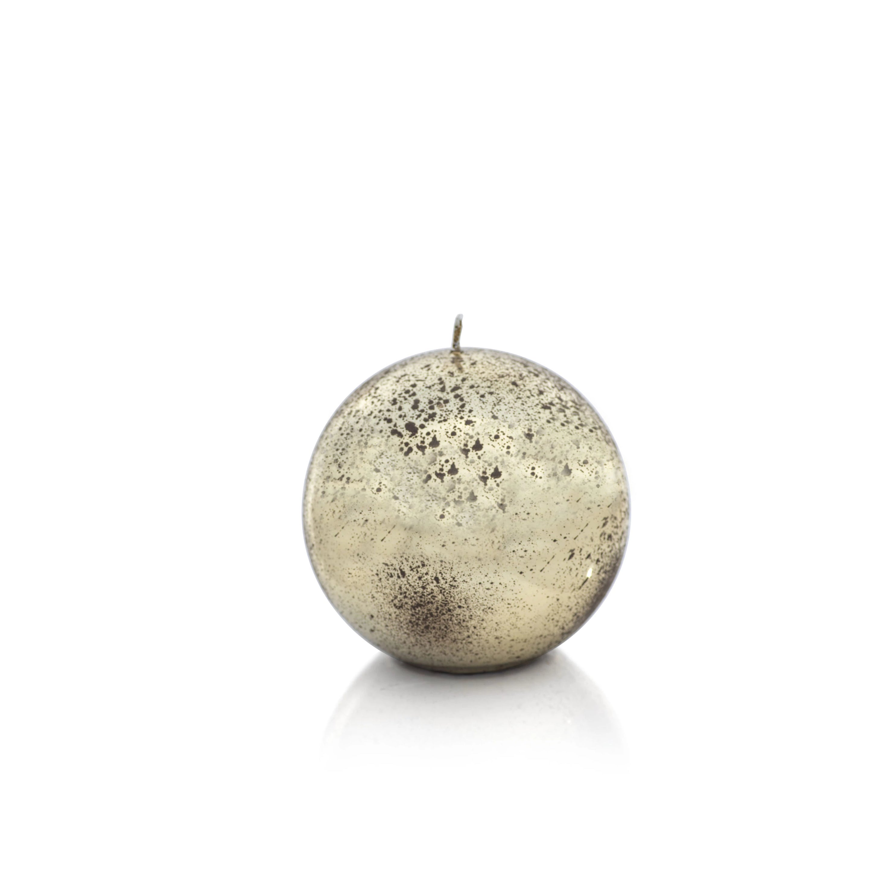 Shiny Metallic Ball Candle - Antique Gold