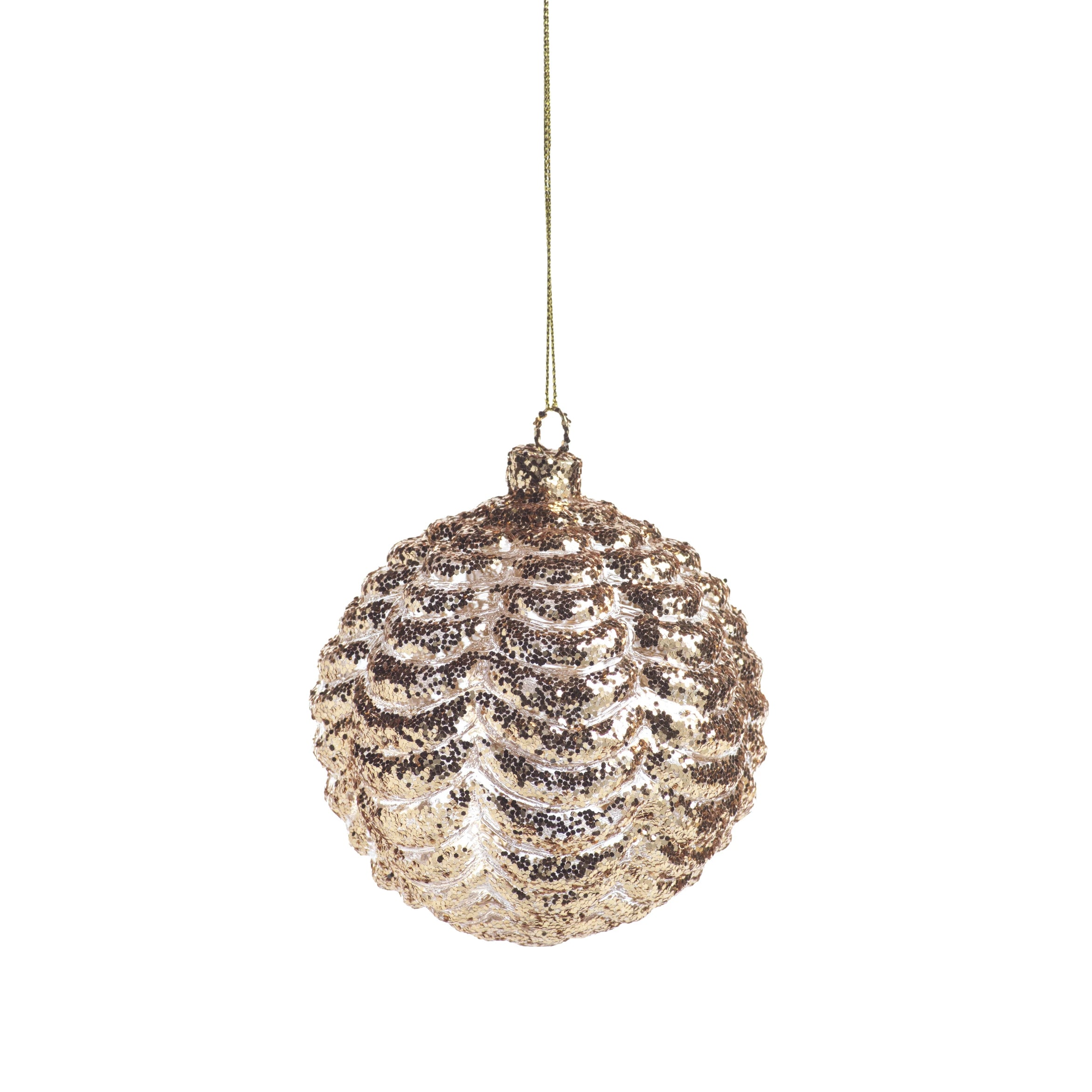 Gold Ripple Ball Ornament - CARLYLE AVENUE