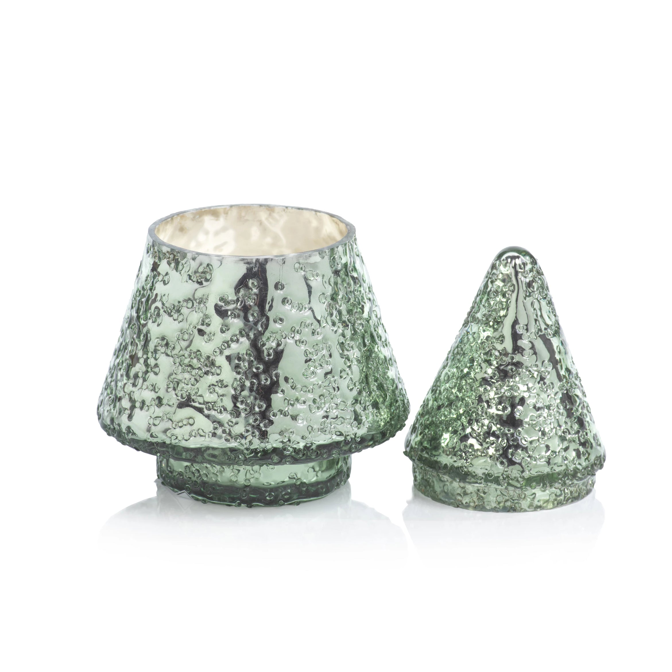 Glass Tree w/ Lid Candle Jar - Siberian Fir - CARLYLE AVENUE