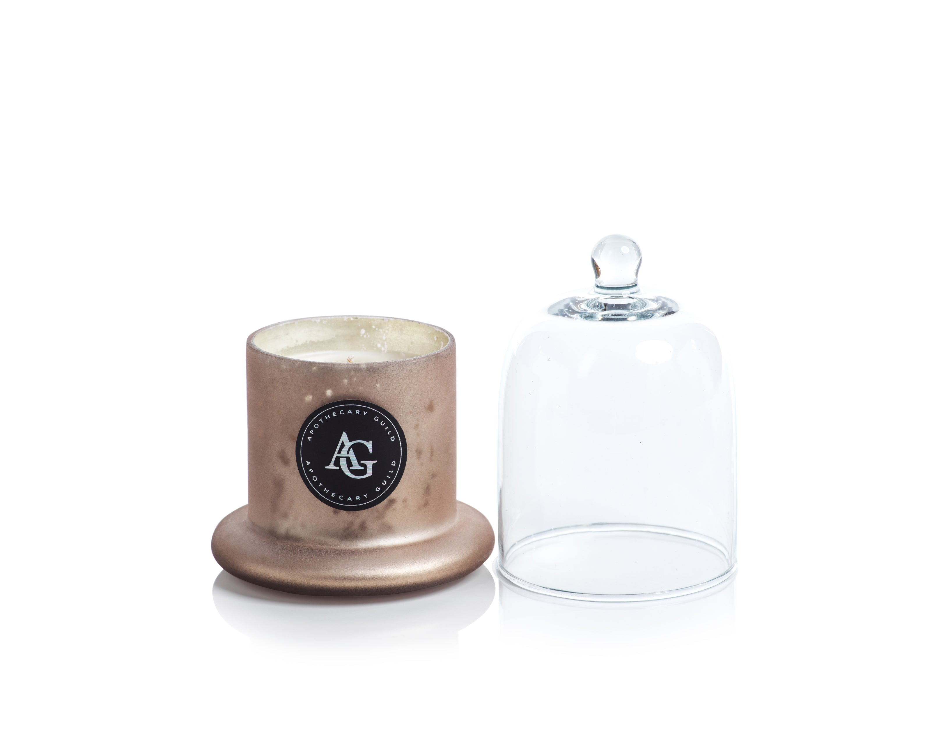 Apothecary Guild Frosted Candle Jar w/Dome