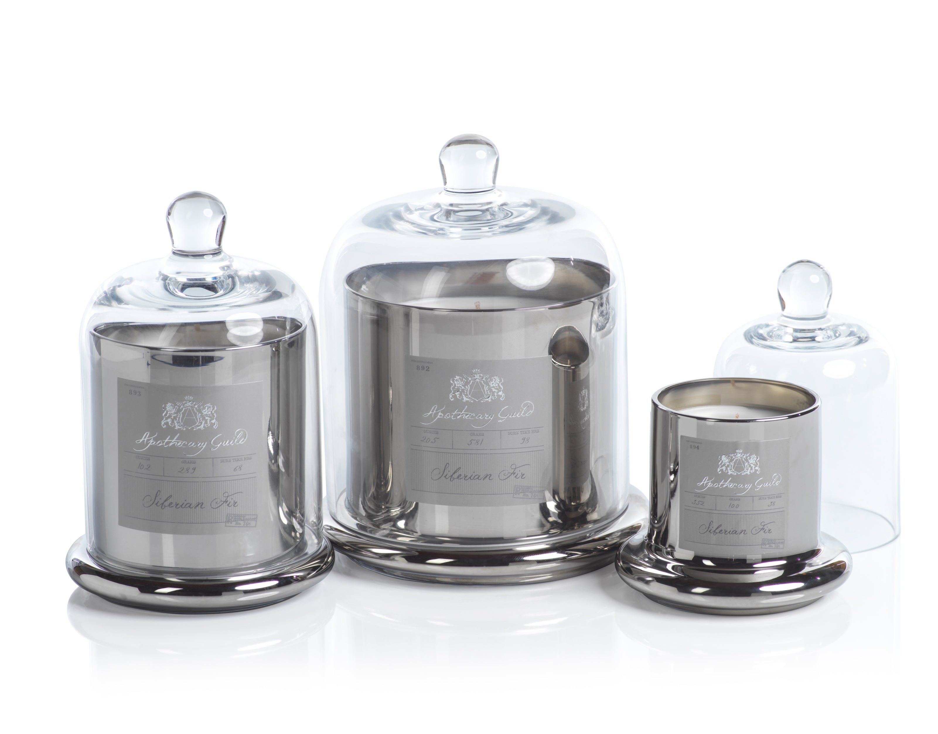 Apothecary Guild Domed Candle - Silver - Siberian Fir - CARLYLE AVENUE