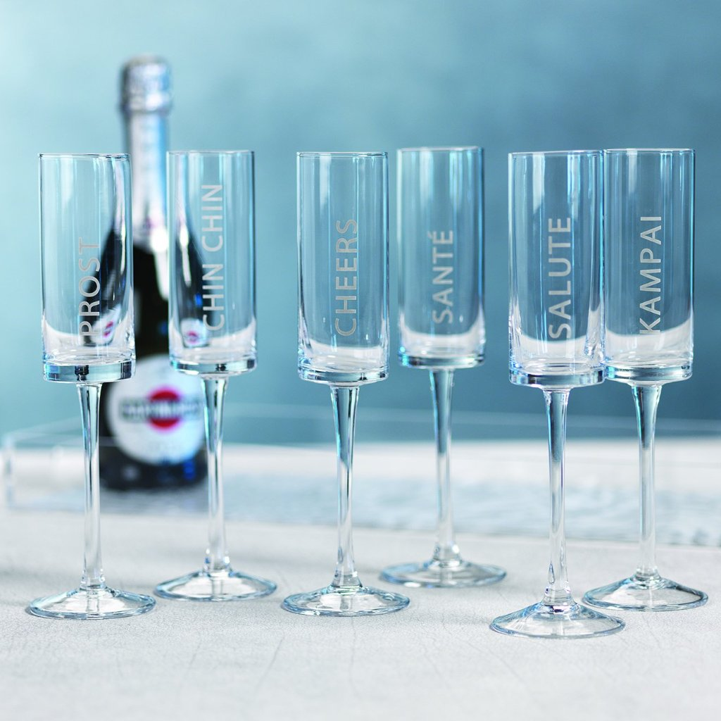 Celebration Champagne Flutes - Set of 6 - CARLYLE AVENUE