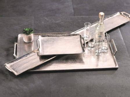 Silver Raw Nickel Long Tray - CARLYLE AVENUE