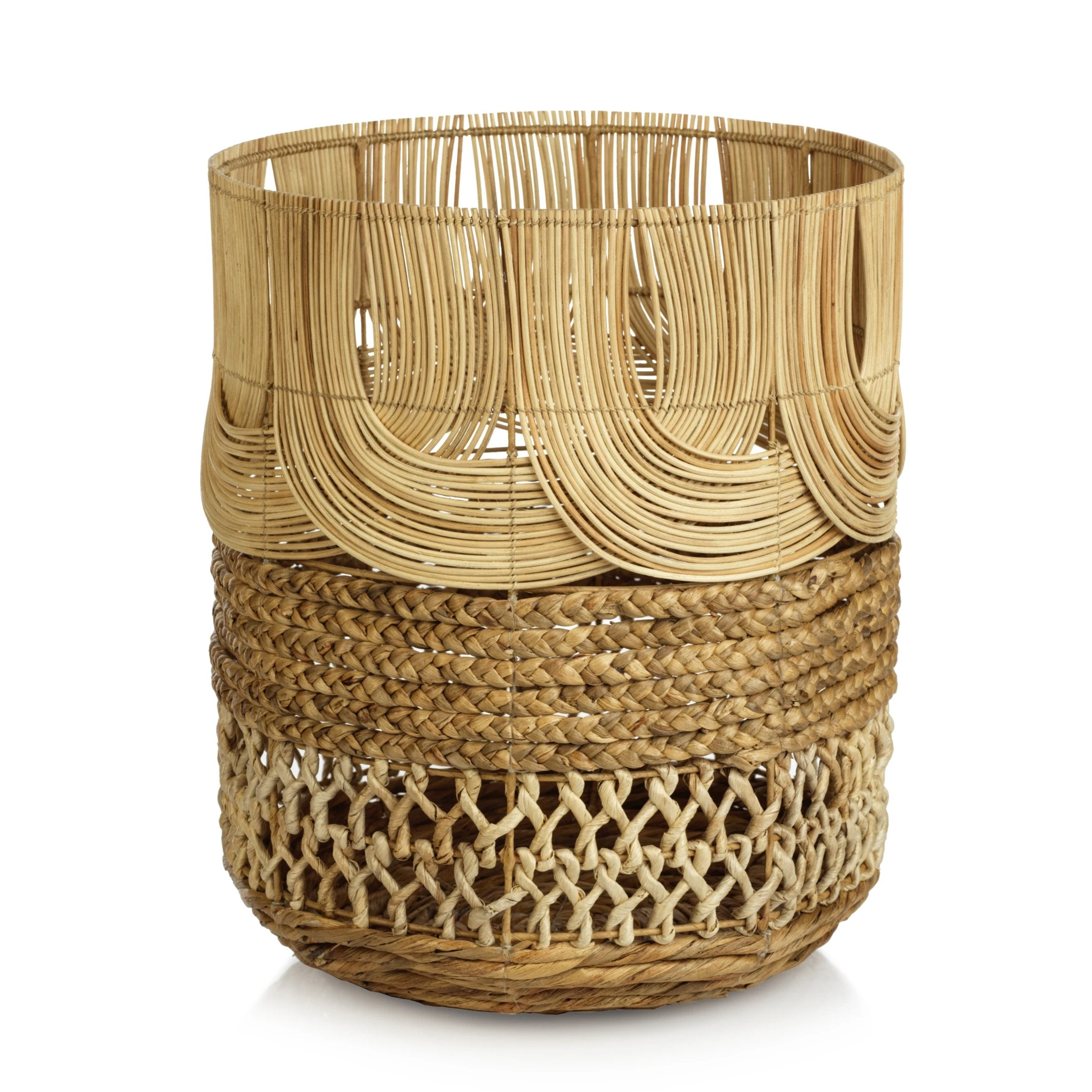 Rattan & Water Hyacinth Basket - CARLYLE AVENUE