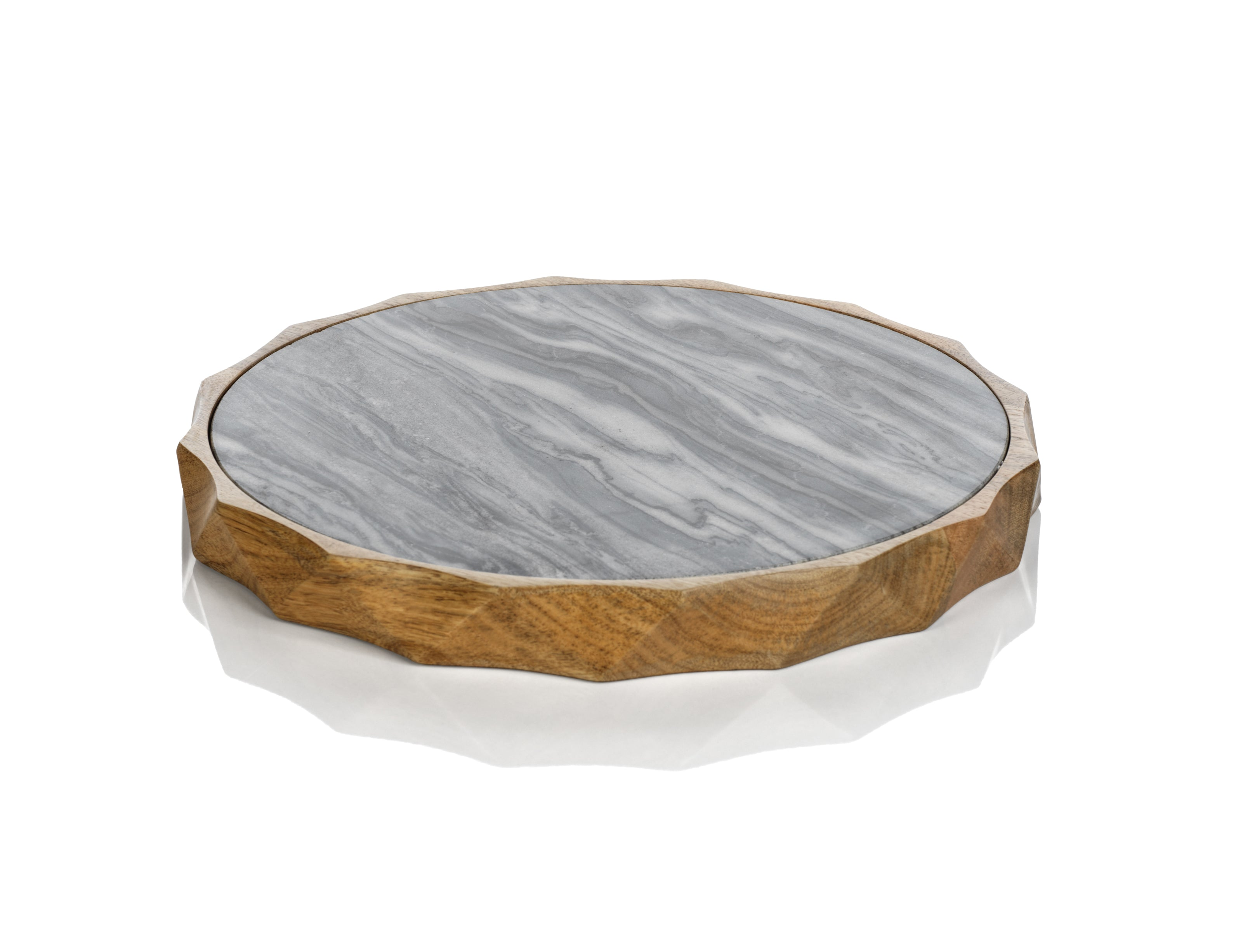 San Ramon Wood & Gray Marble Board - CARLYLE AVENUE