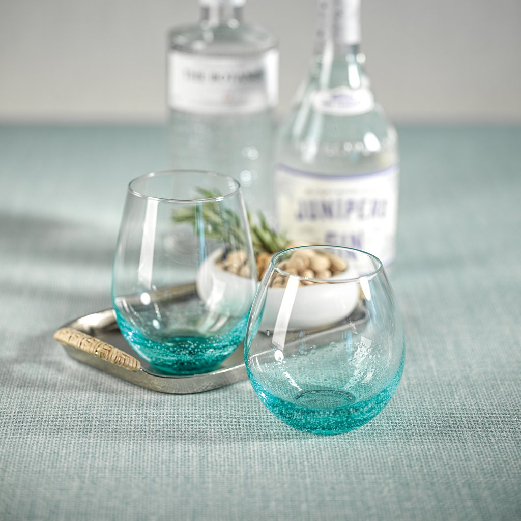 Aqua Bubble Stemless All Purpose Glass