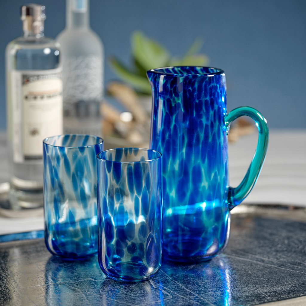 Blue Tortoise Highball Glass