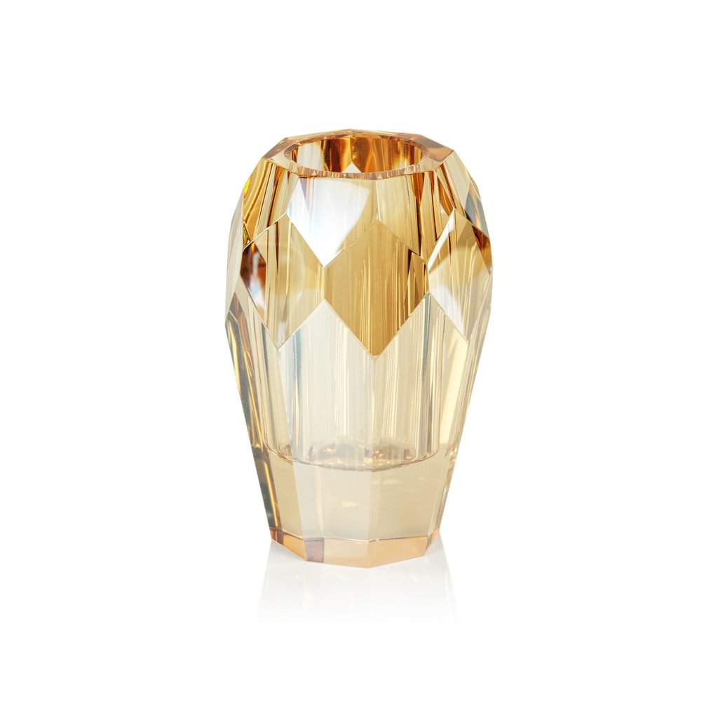 Veniza Cut Crystal Vase - 4 Colors