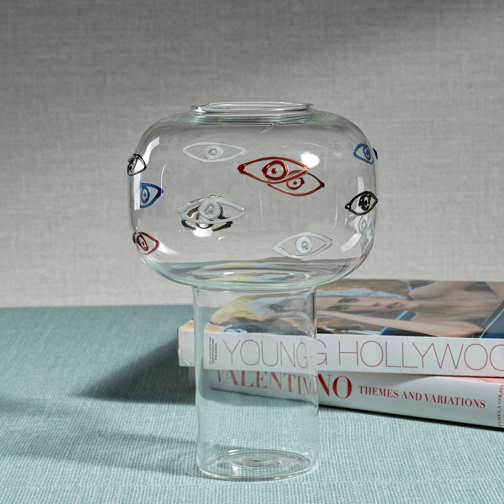 Evil Eye Solanto Glass Vase