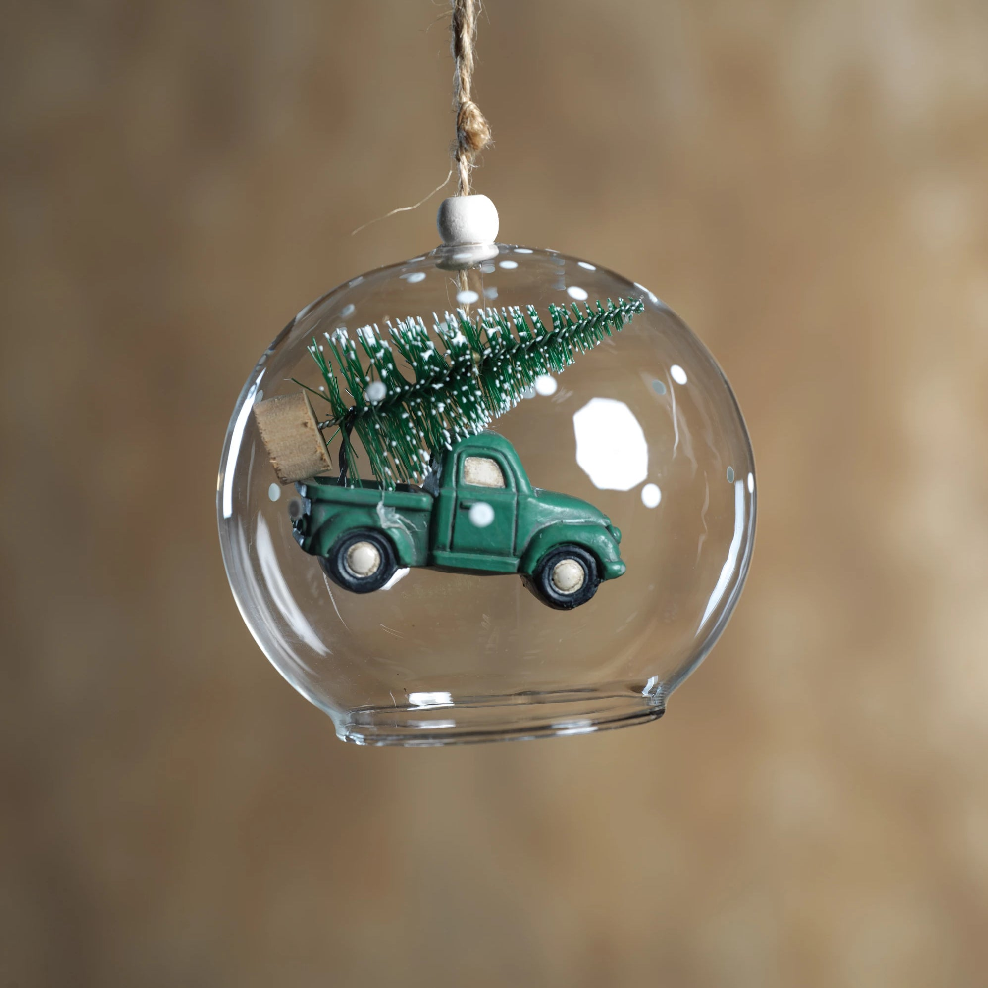 Tree on Car Ornament - Green - Set of 6 - CARLYLE AVENUE
